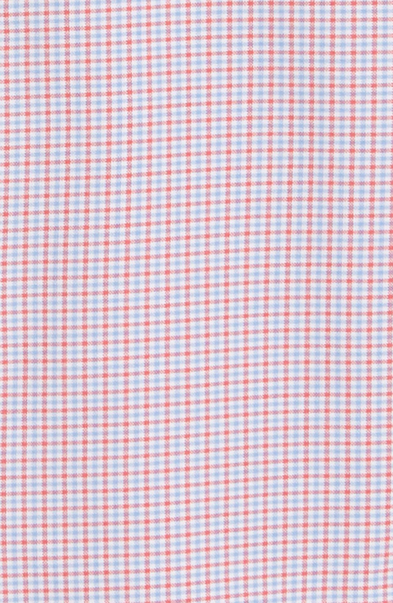 Slim Tucker 2 Check Sport Shirt,                             Alternate thumbnail 6, color,                             SAILORS RED