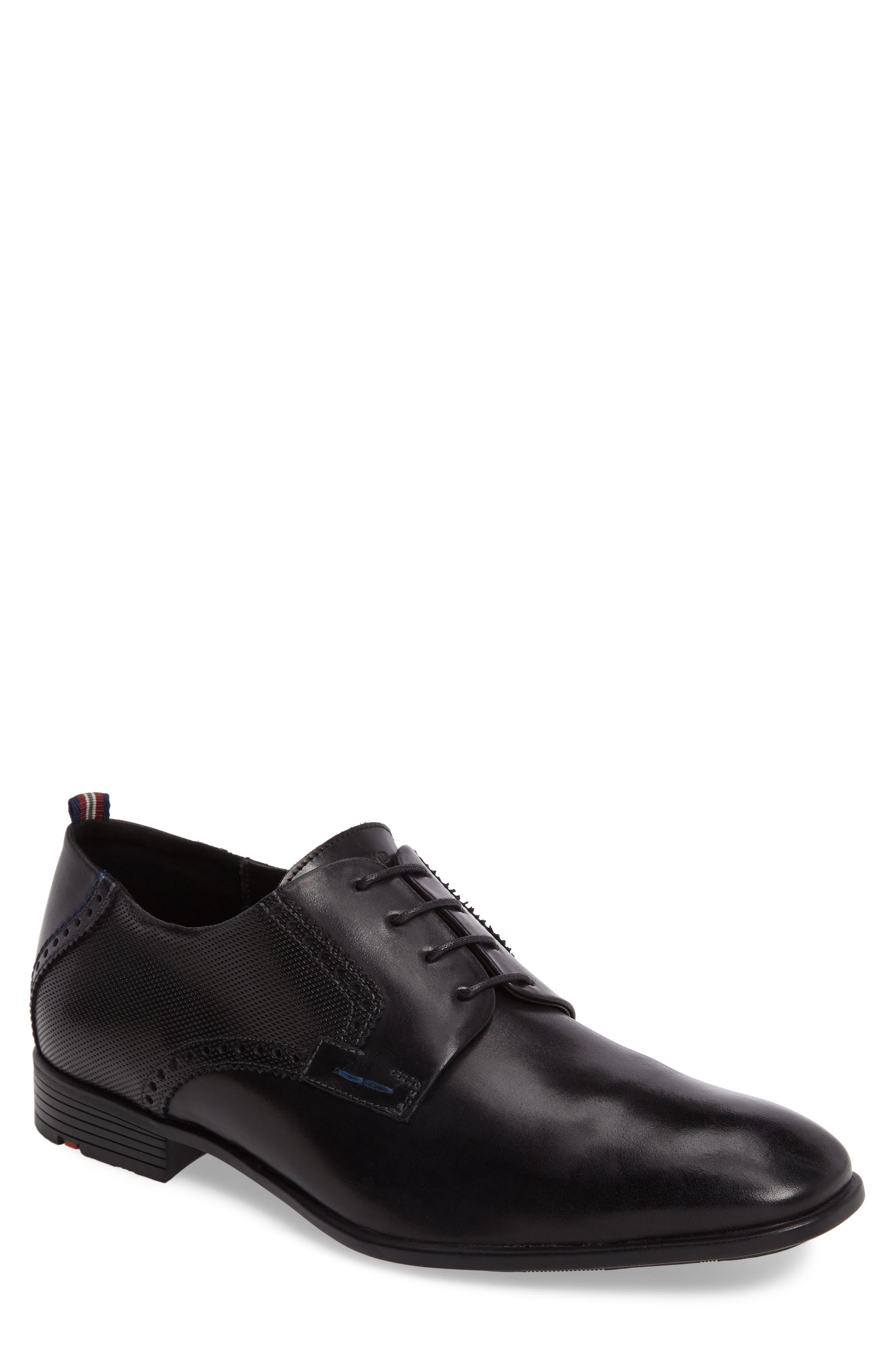 Dejan Plain Toe Derby,                         Main,                         color, BLACK LEATHER