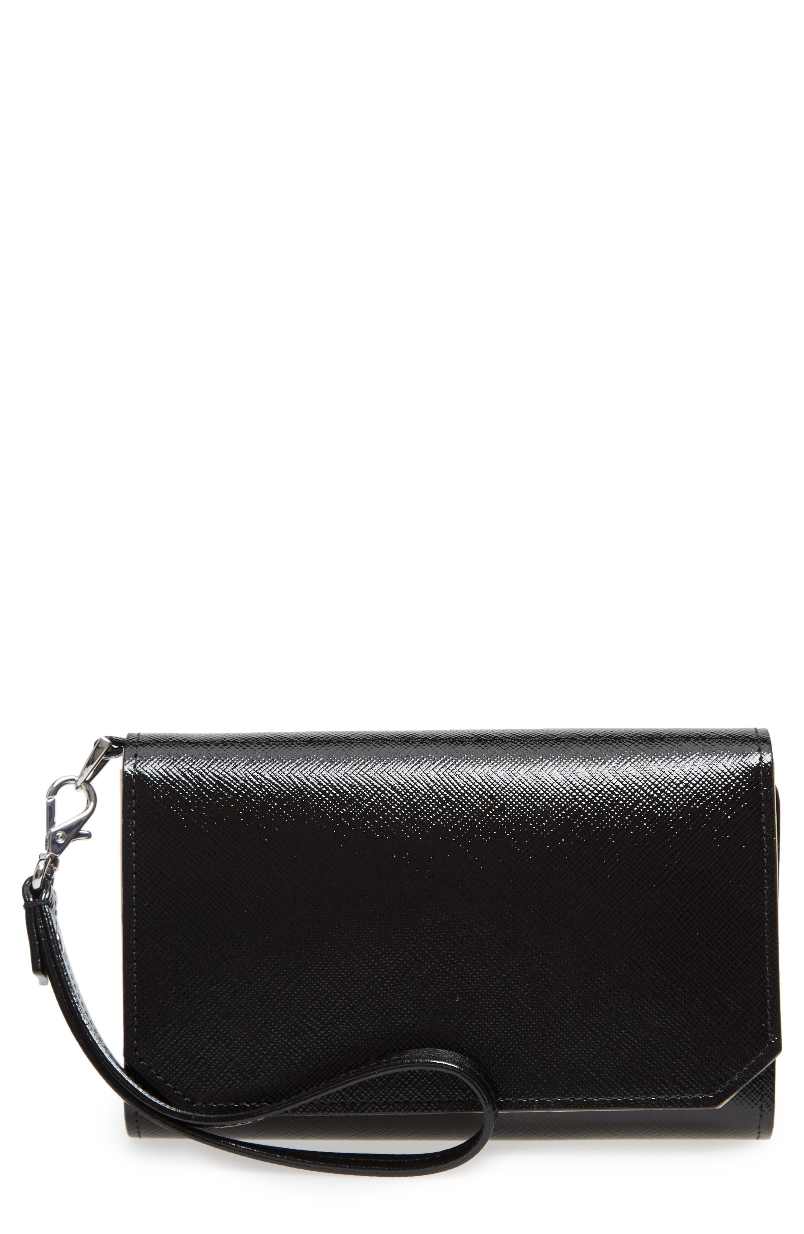 Trifold Leather Wallet,                         Main,                         color, 002
