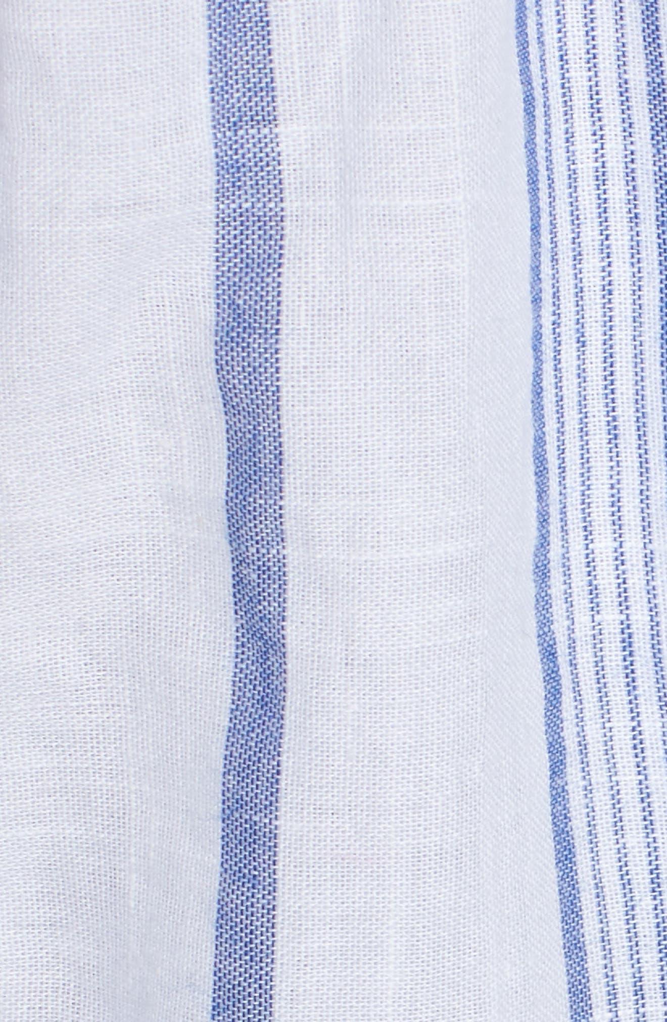 Stripe Tie Strap Dress,                             Alternate thumbnail 6, color,                             SKY STRIPE