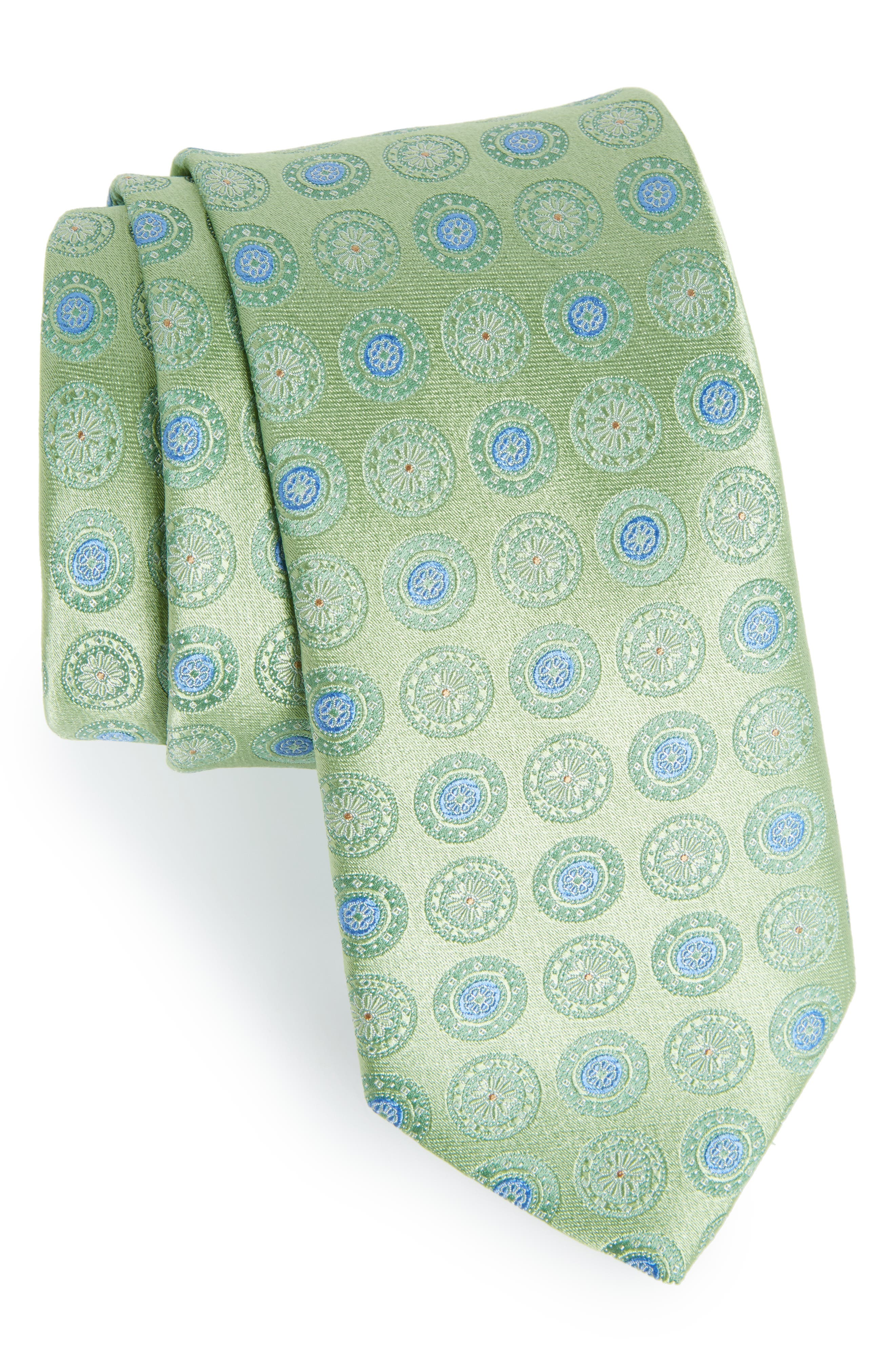 Medallion Silk Tie,                             Main thumbnail 1, color,                             300