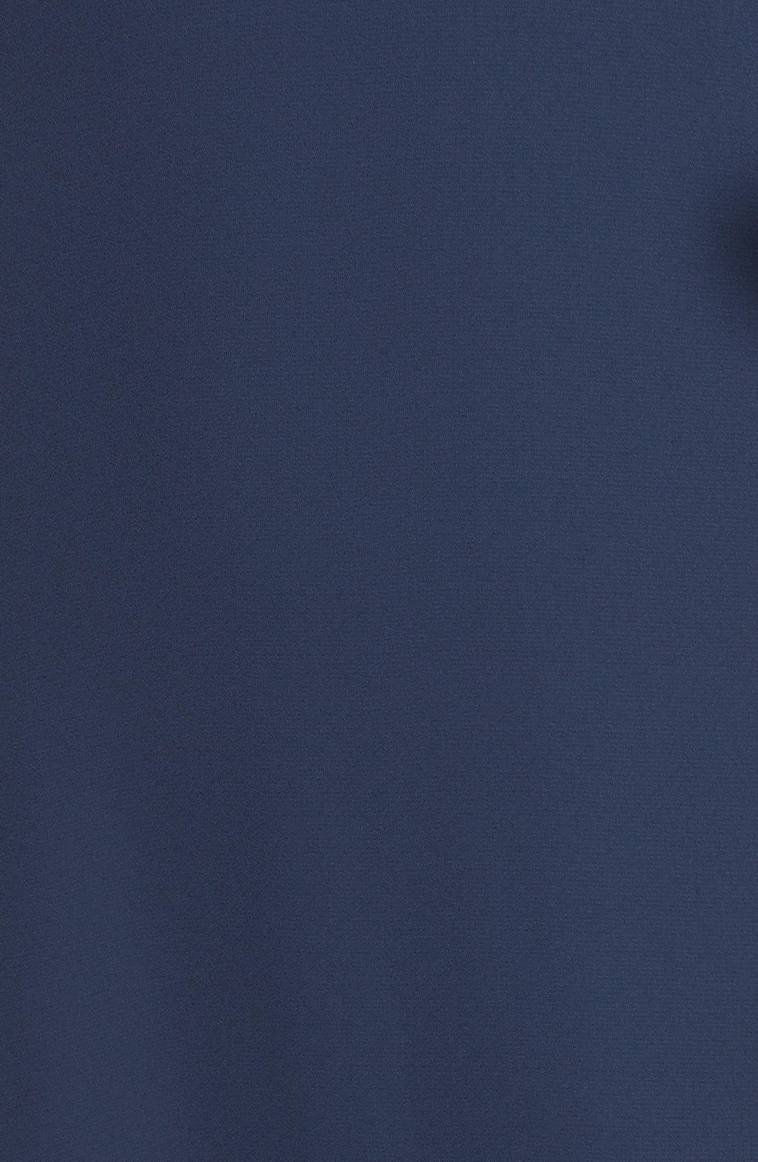 The Kiara Empire Plunge Neck Gown,                             Alternate thumbnail 6, color,                             NAVY