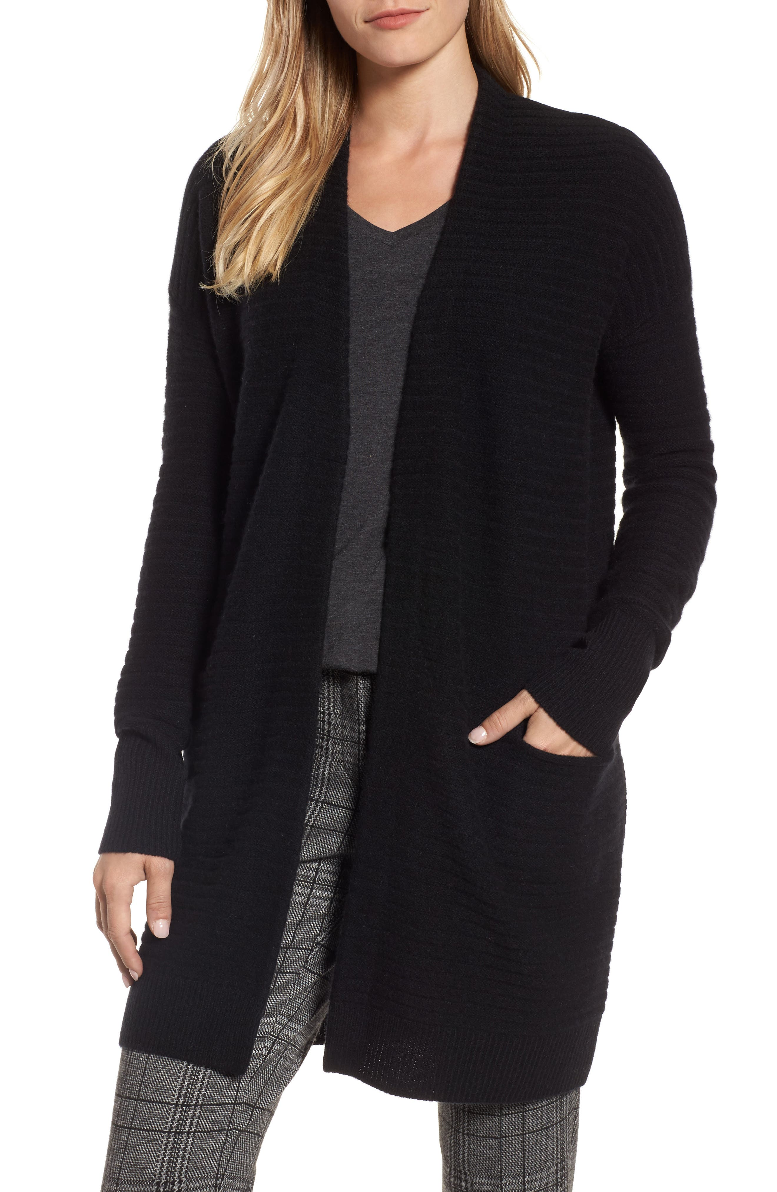 Ribbed Cashmere Cardigan,                         Main,                         color,