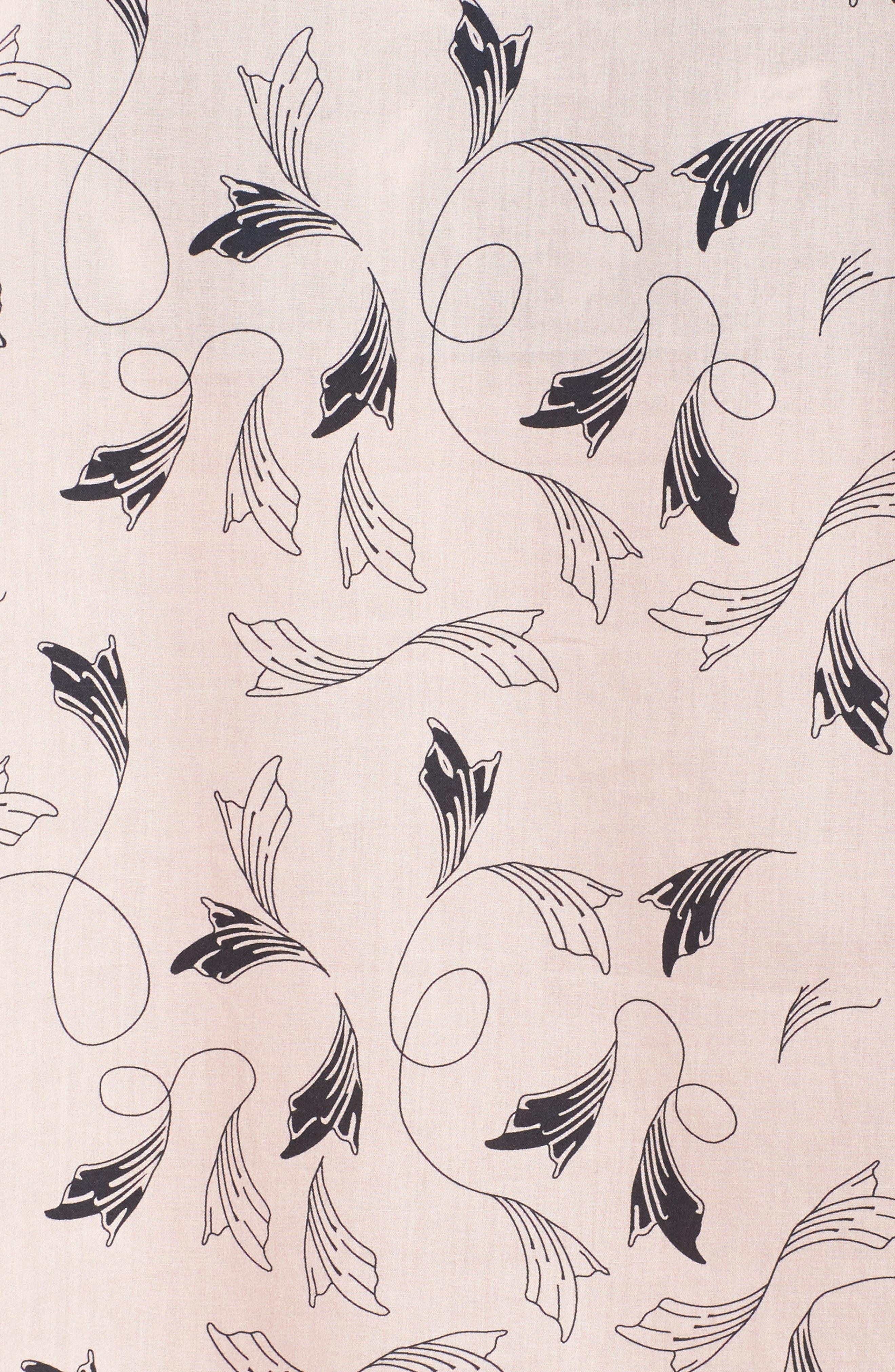 Classic Print Cotton Poplin Pajamas,                             Alternate thumbnail 5, color,