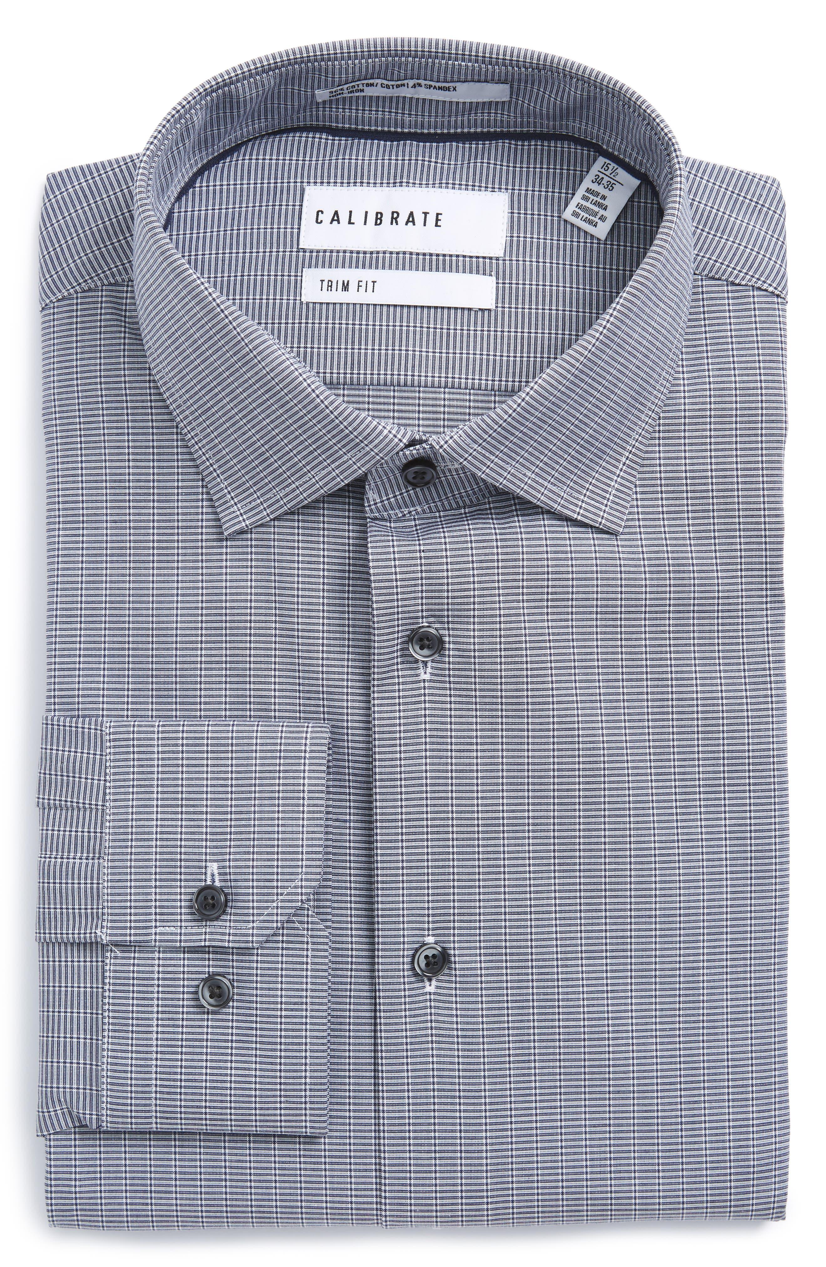 Trim Fit Non-Iron Dress Shirt,                             Alternate thumbnail 3, color,                             421