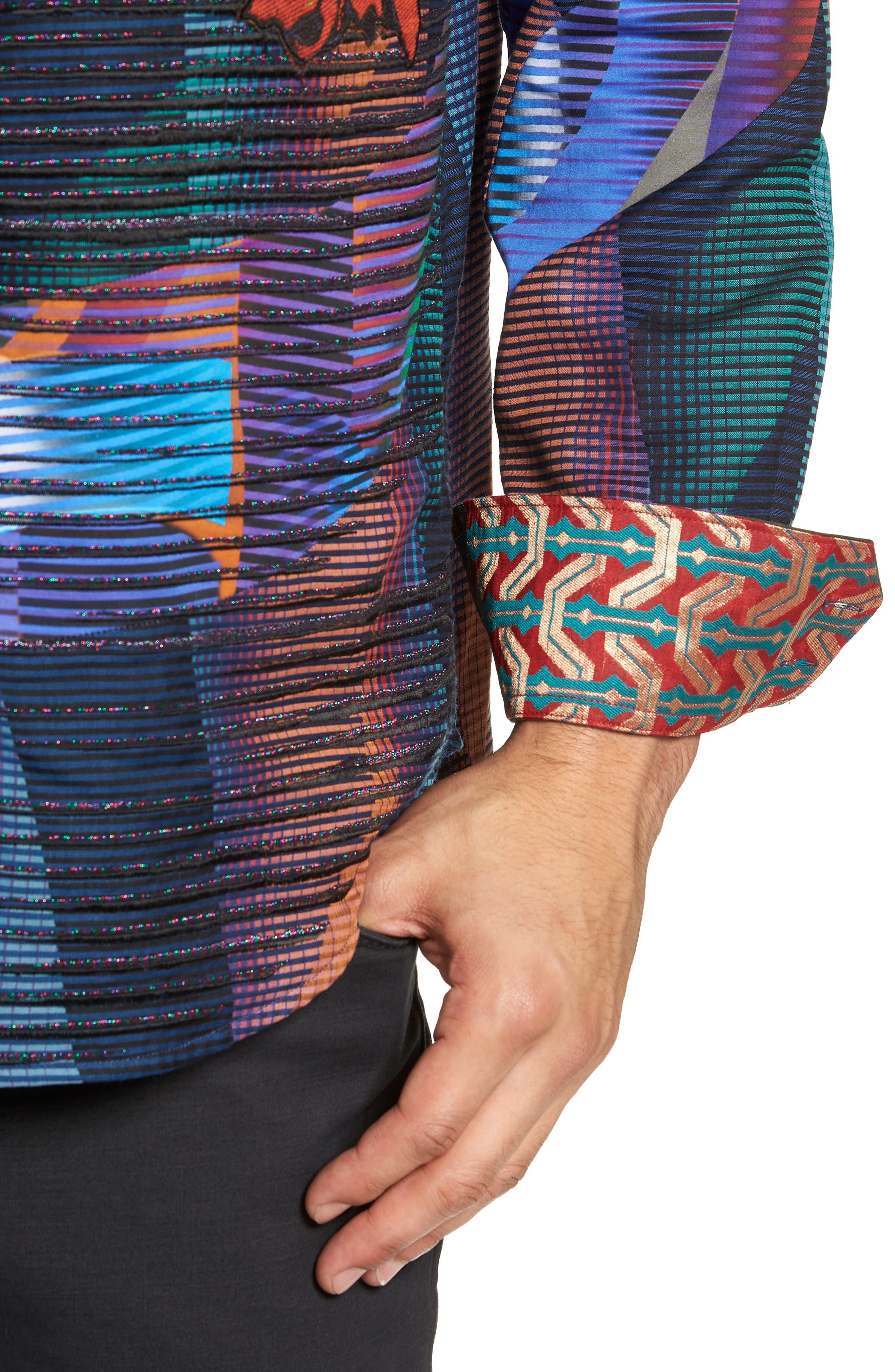 Canyon Flower Classic Fit Sport Shirt,                             Alternate thumbnail 2, color,                             MULTI