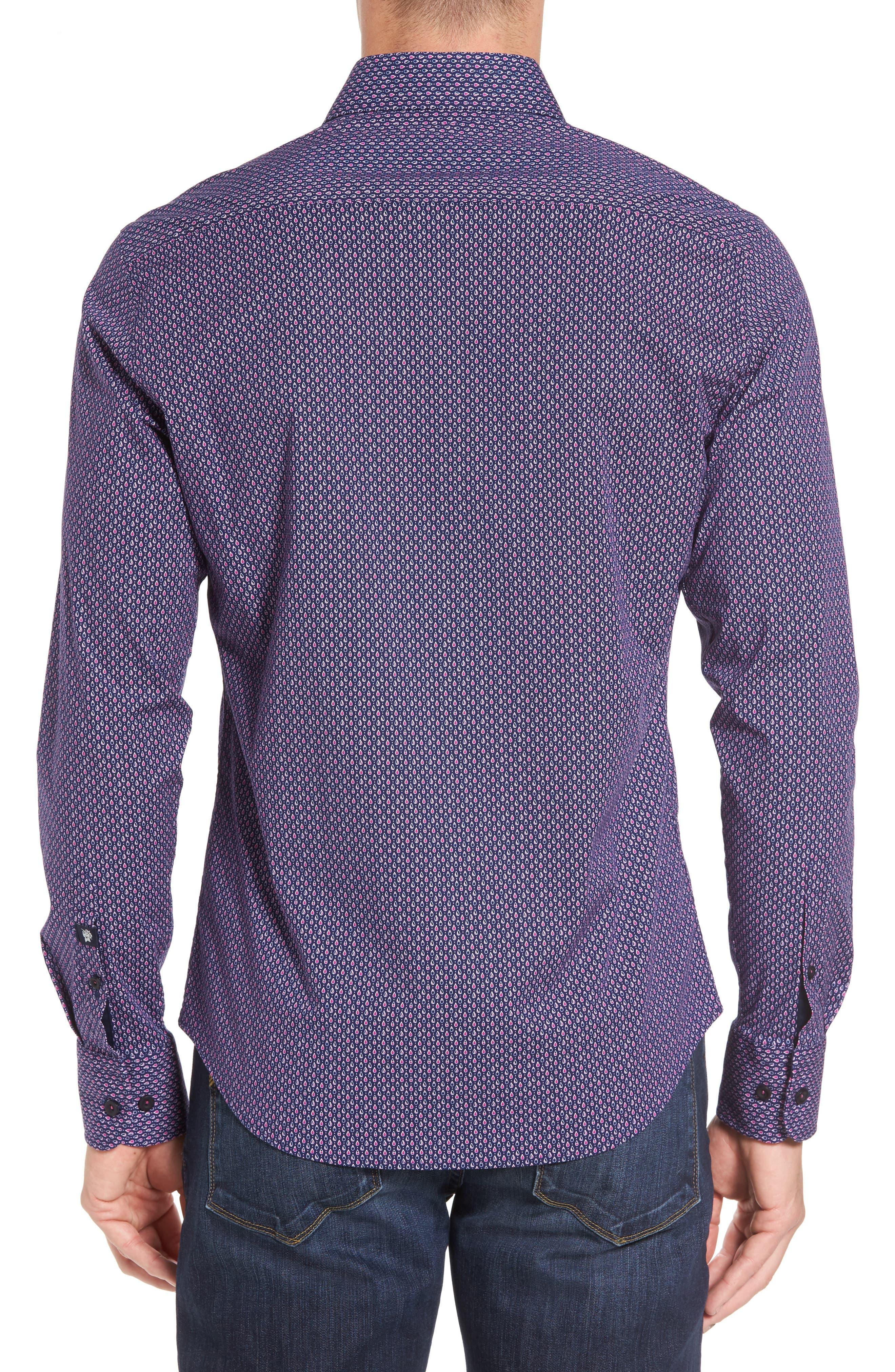 Slim Fit Teardrop Print Sport Shirt,                             Alternate thumbnail 2, color,                             500