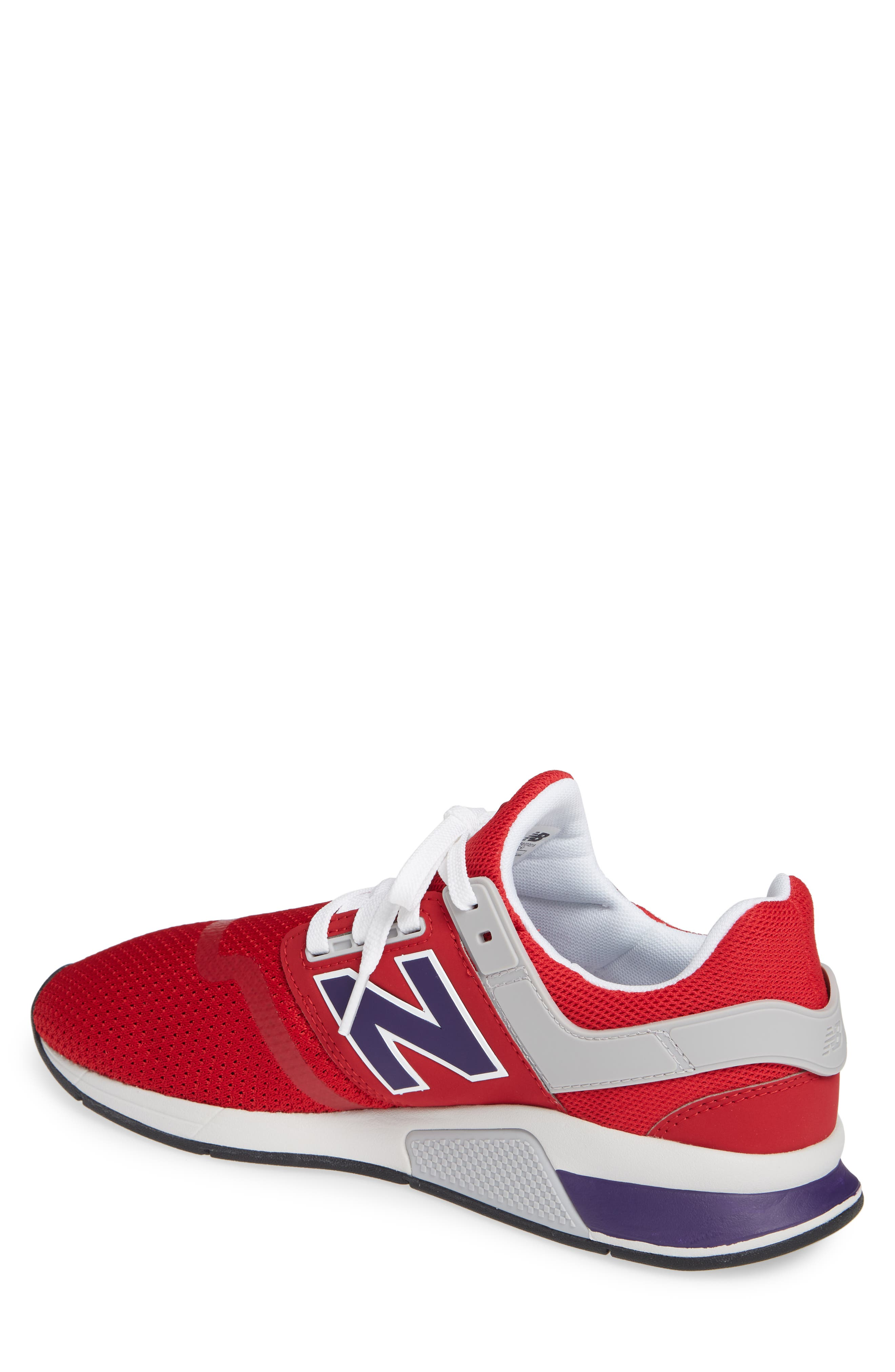 247 Sneaker,                             Alternate thumbnail 2, color,                             TANGO RED SYNTHETIC/ MESH