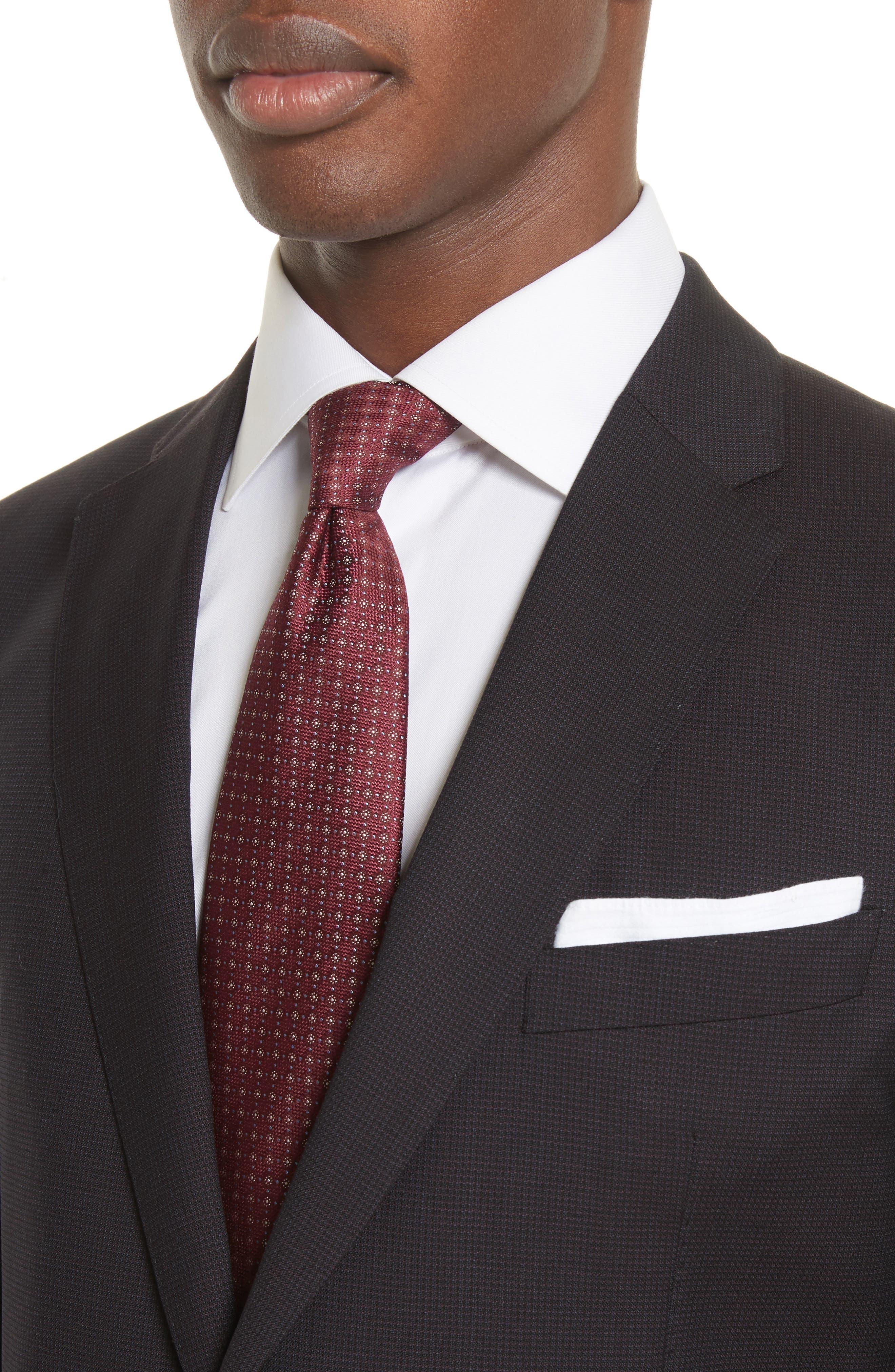 Emporio Armani M-Line Trim Fit Solid Wool Suit,                             Alternate thumbnail 4, color,                             604