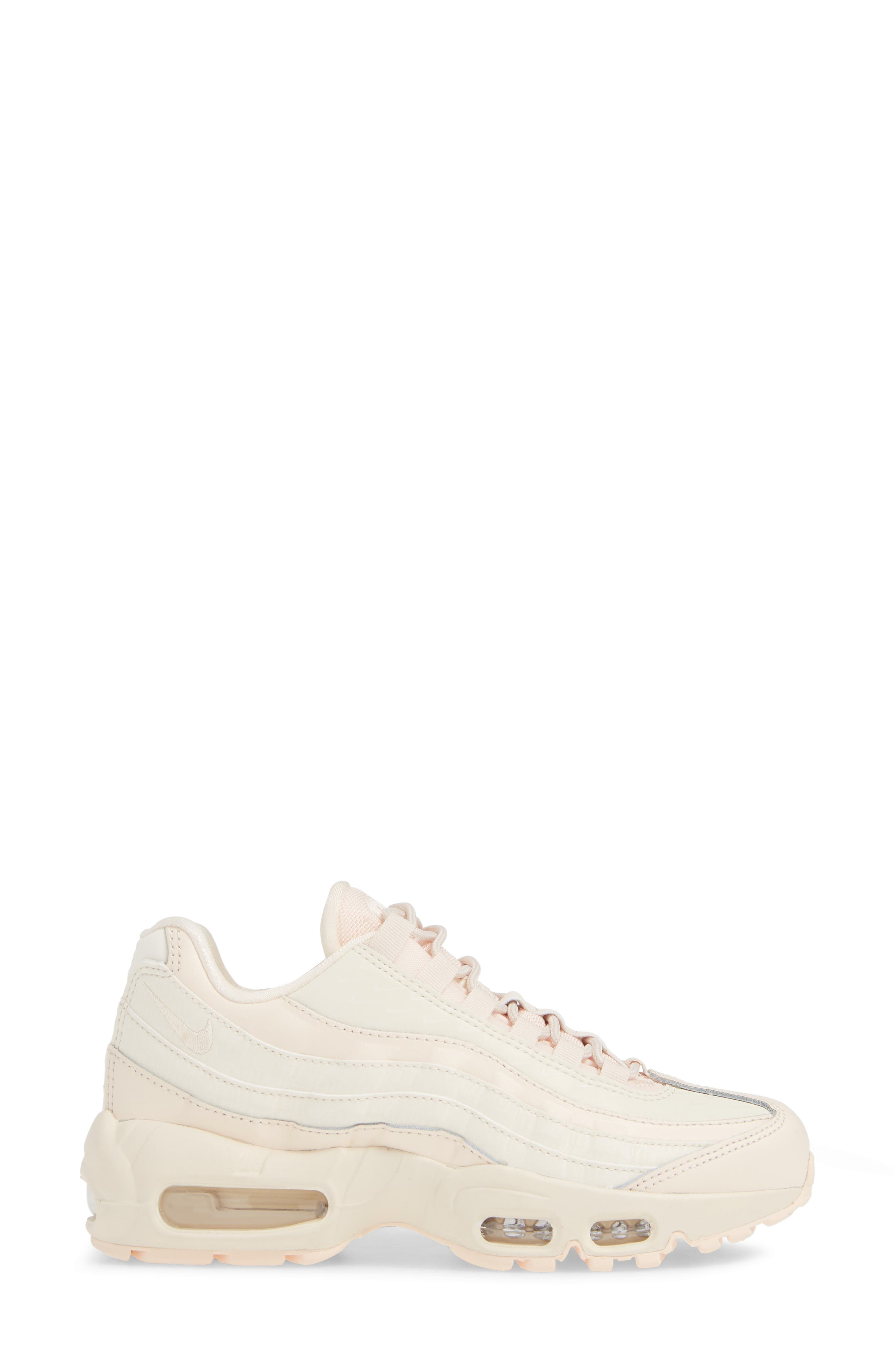 Air Max 95 LX Shoe,                             Alternate thumbnail 3, color,                             GUAVA ICE/ GUAVA ICE