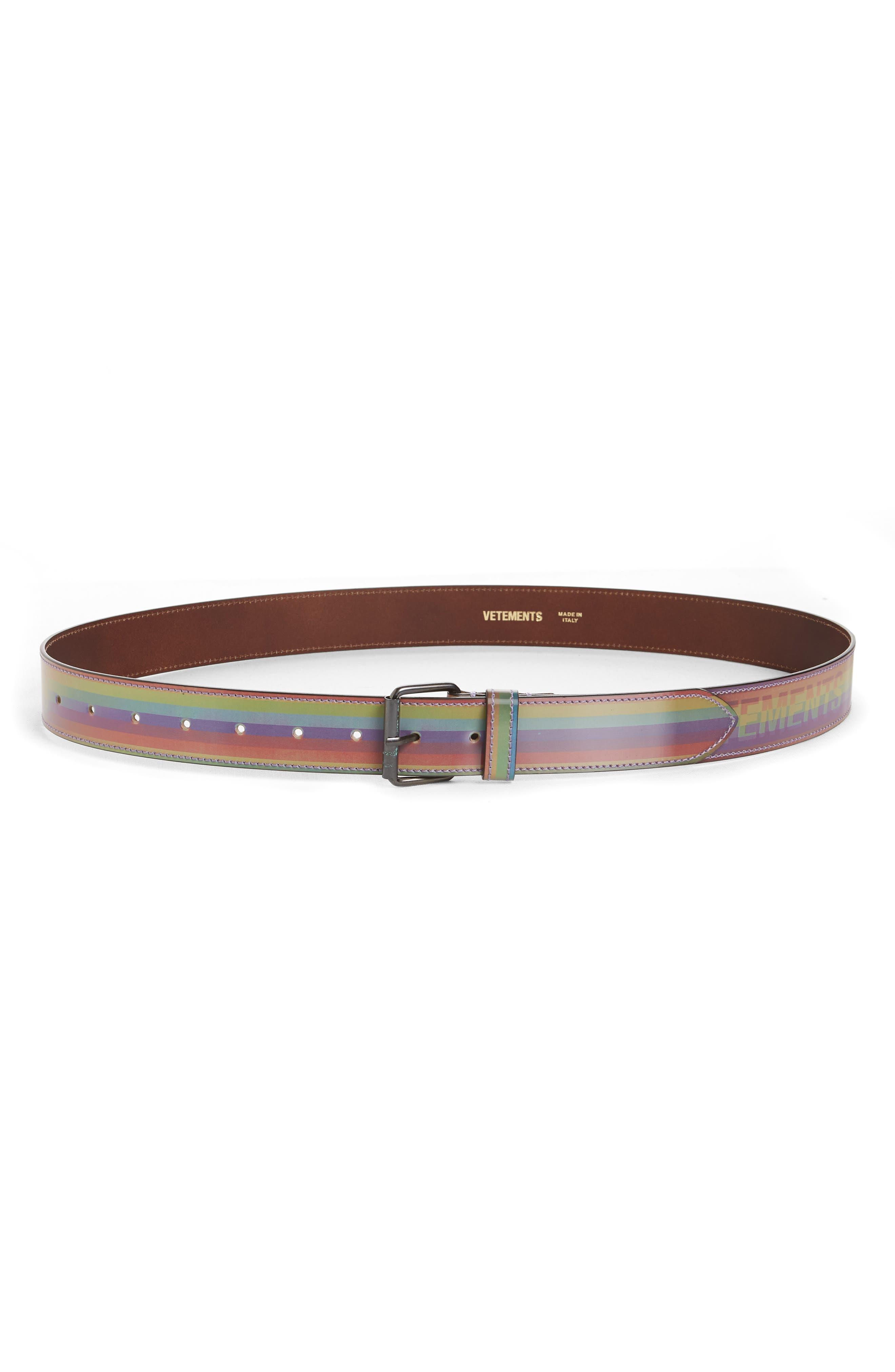 Hologram Belt,                             Main thumbnail 1, color,                             RAINBOW