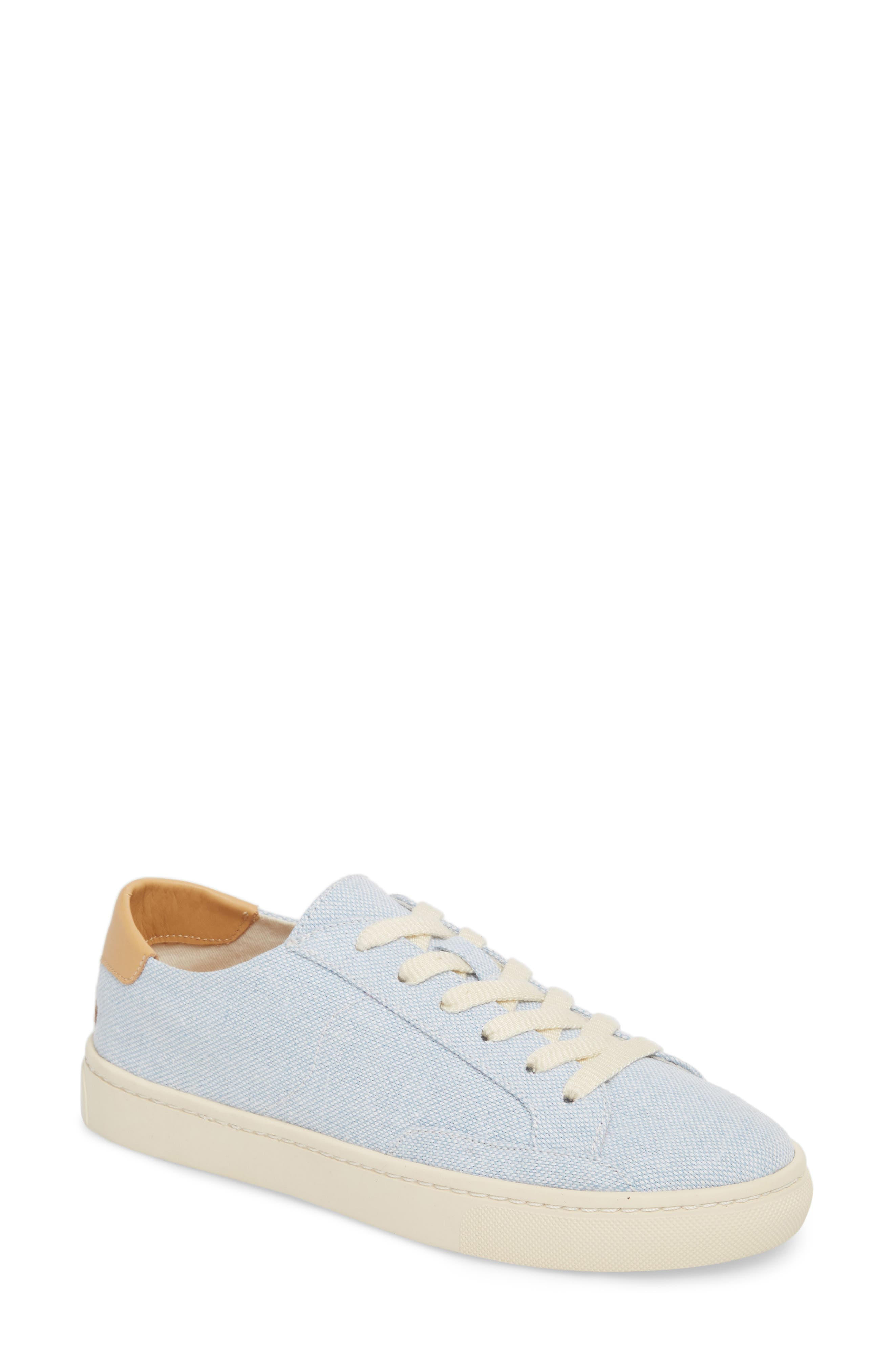 Ibiza Canvas Lace-Up Sneaker,                             Main thumbnail 1, color,                             SKY BLUE