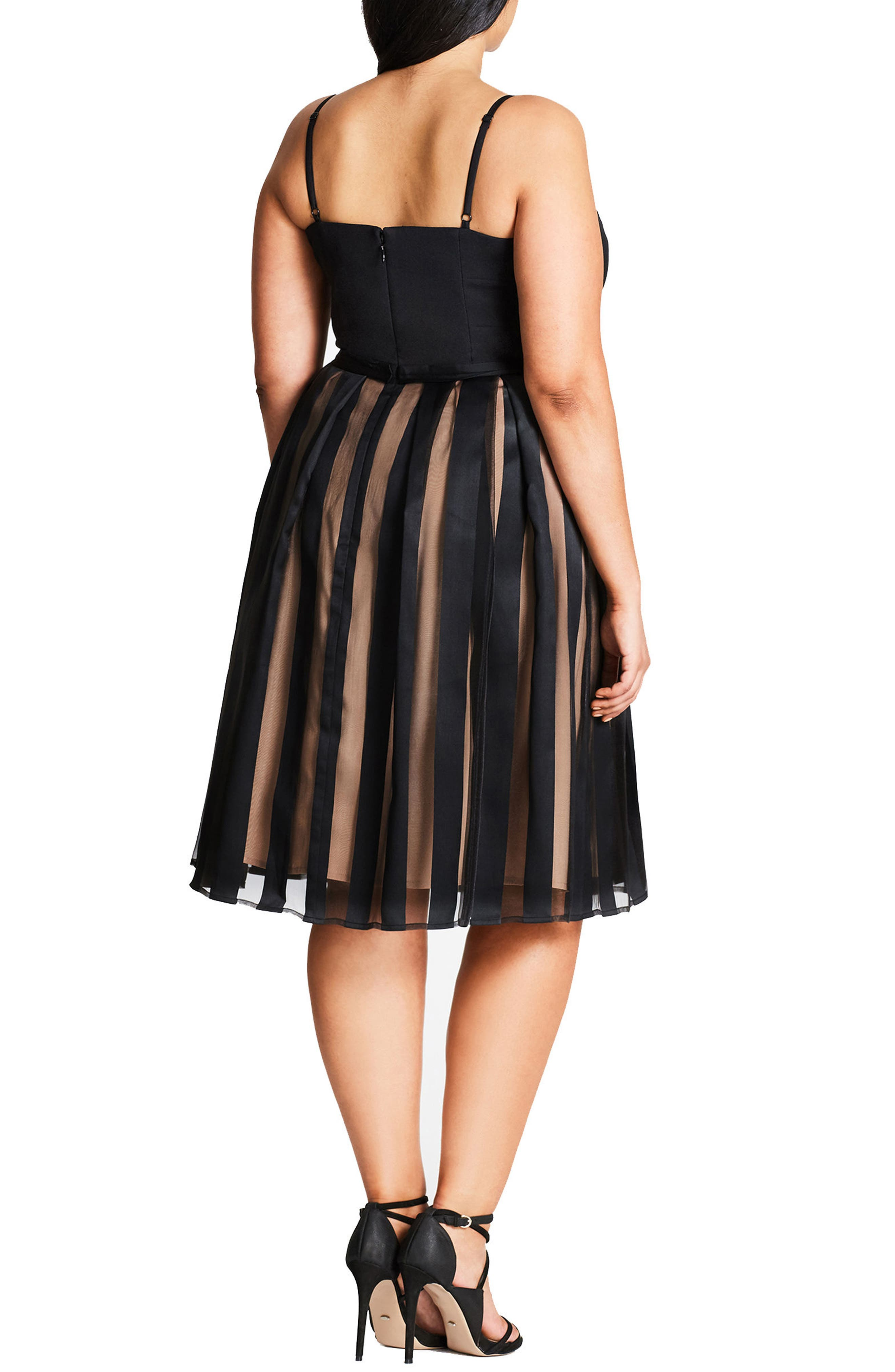 Pretty Pleat Dress,                             Alternate thumbnail 3, color,