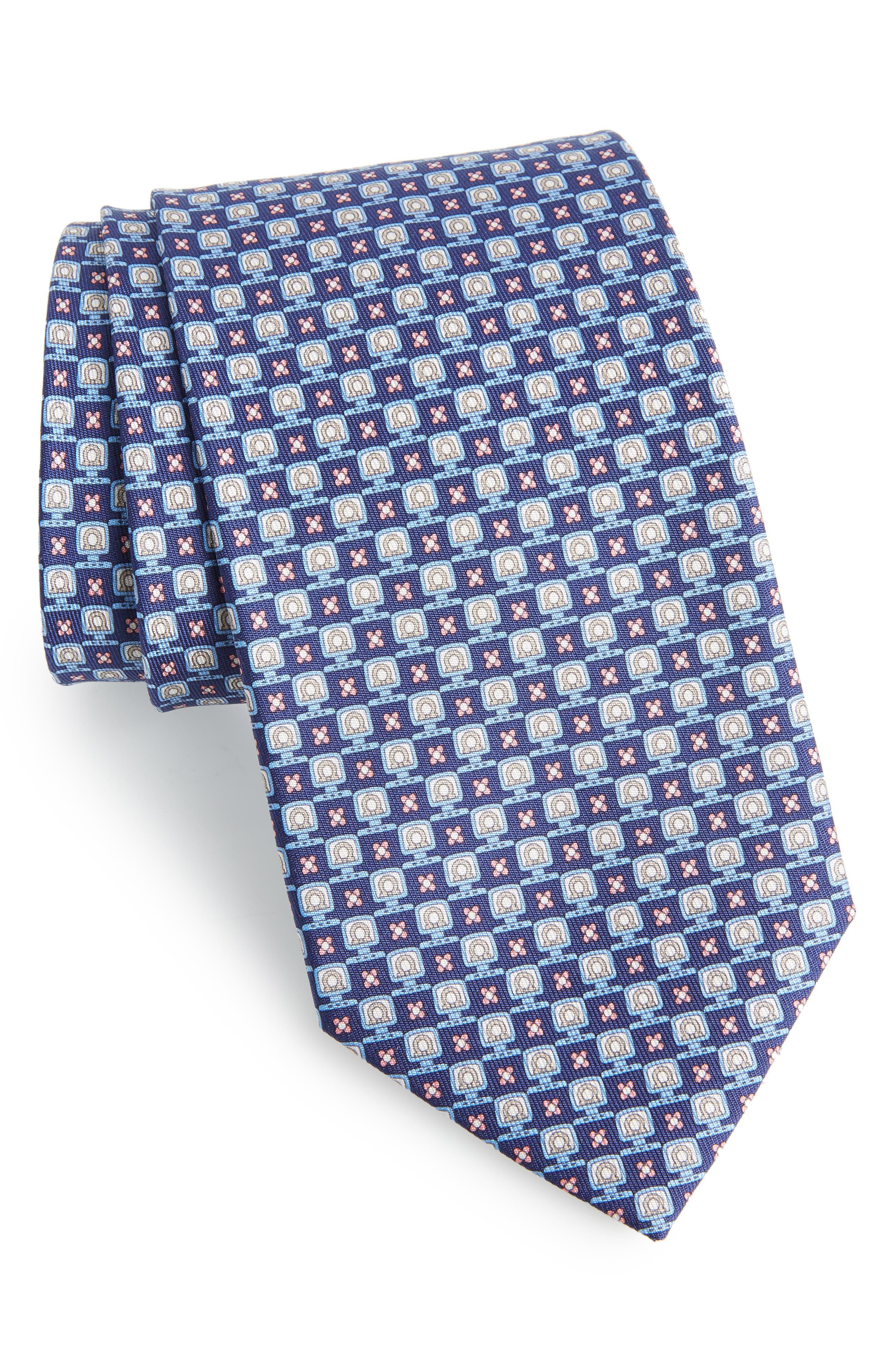 Favola Print Silk Tie,                             Main thumbnail 1, color,                             410