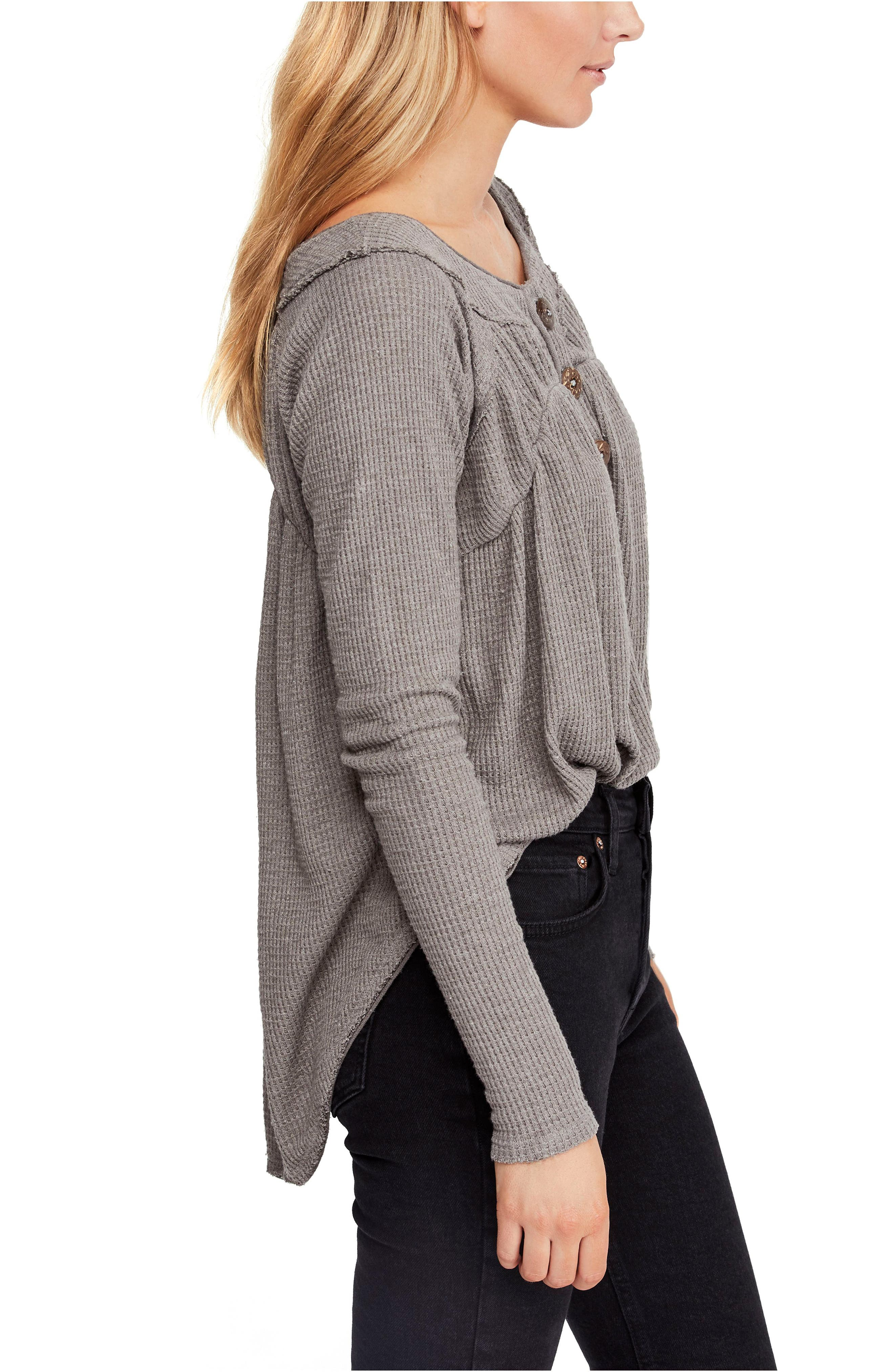 FREE PEOPLE,                             Must Have Henley,                             Alternate thumbnail 3, color,                             GREY