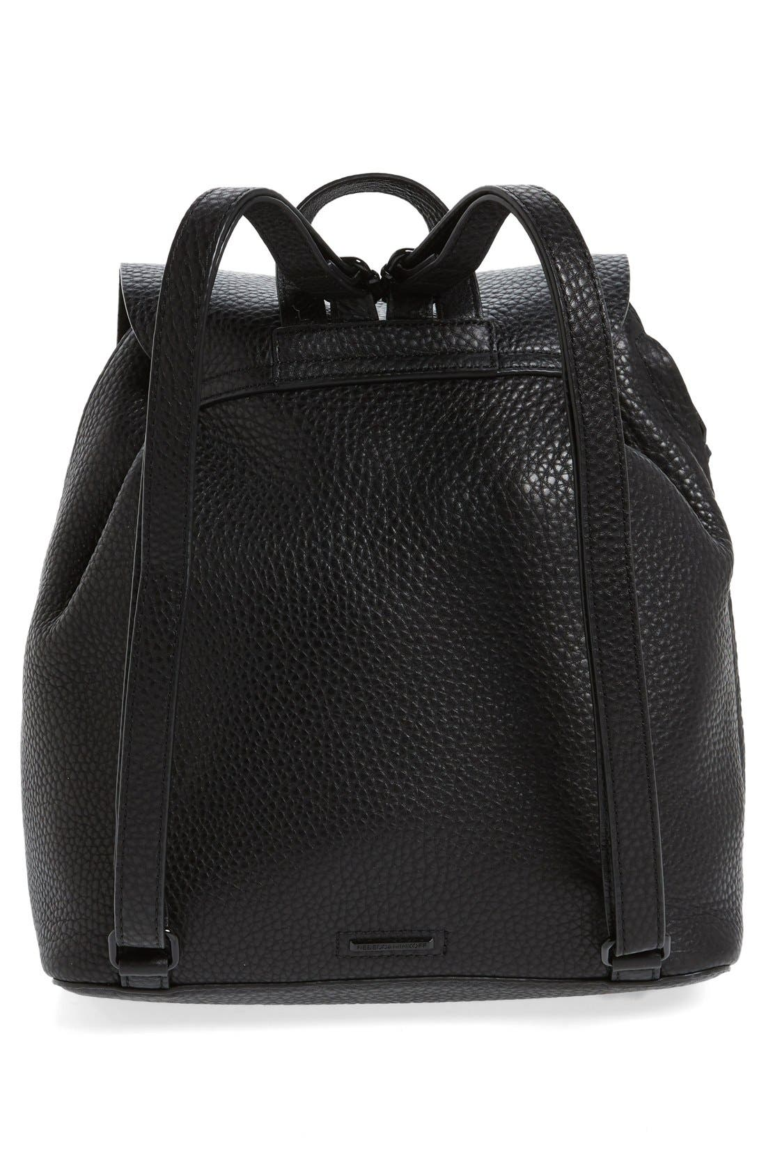 Darren Leather Backpack,                             Alternate thumbnail 3, color,                             001