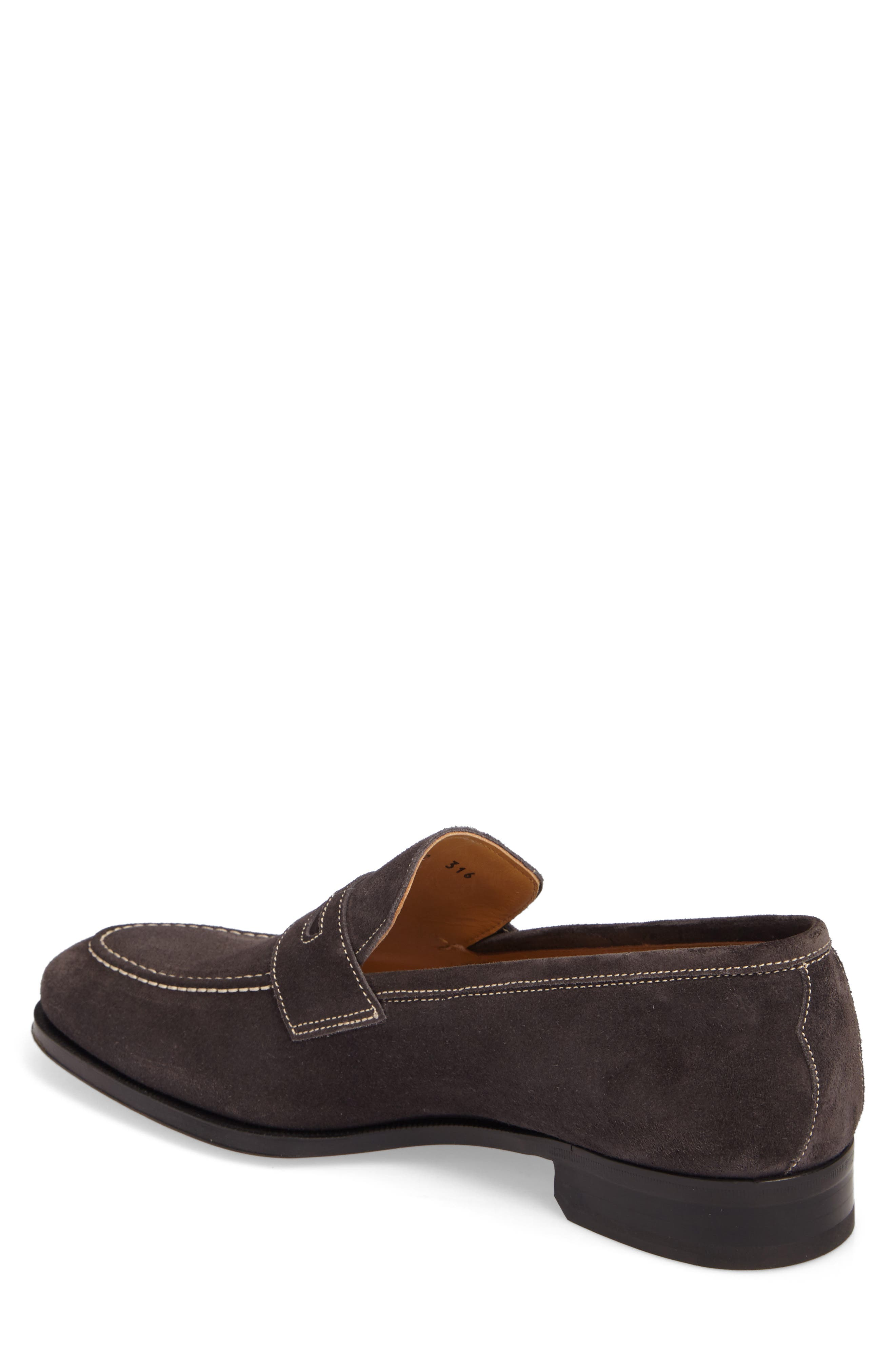 Leather Penny Loafer,                             Alternate thumbnail 6, color,