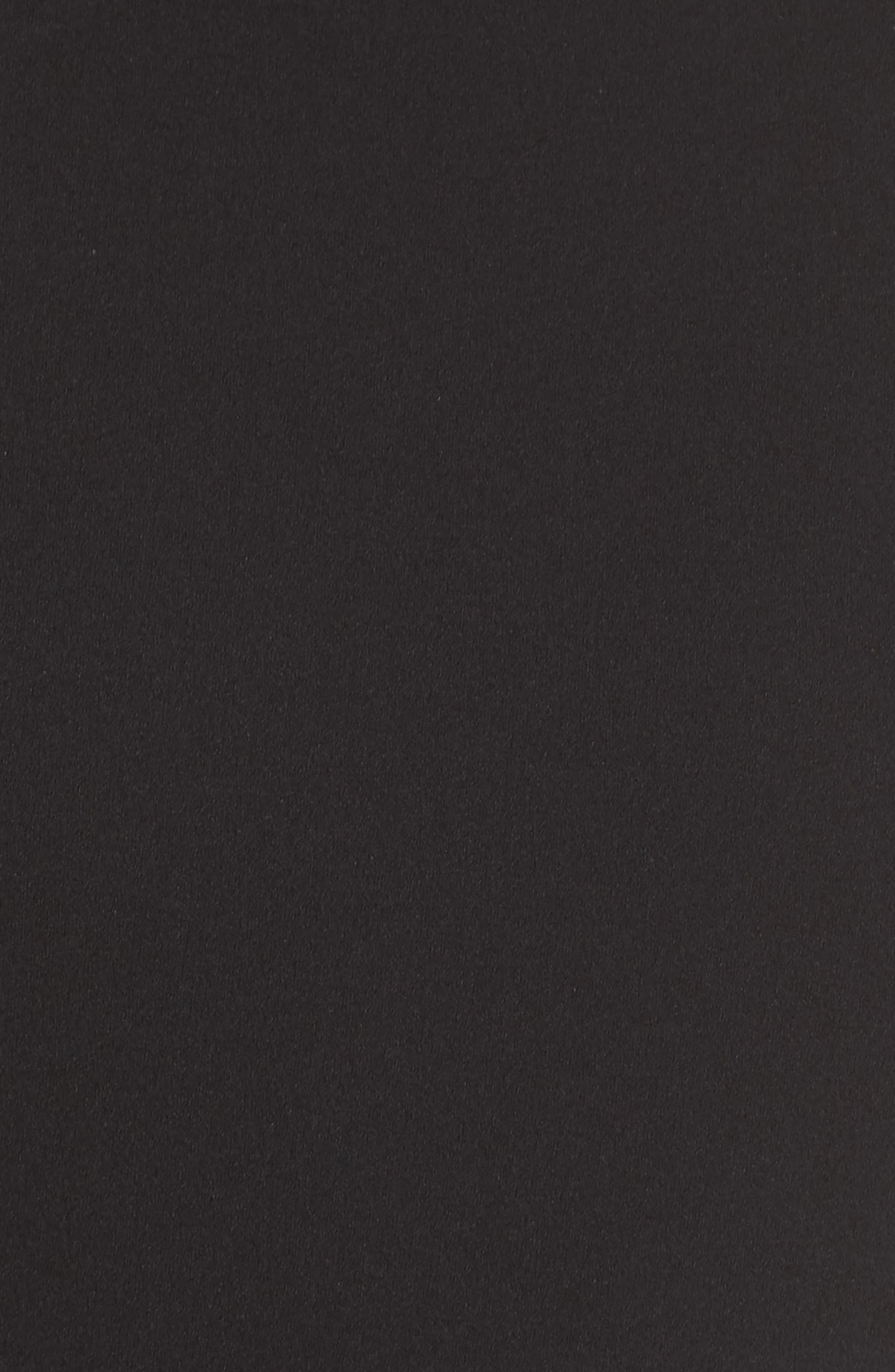 Asymmetrical Tea Length Dress,                             Alternate thumbnail 6, color,                             BLACK