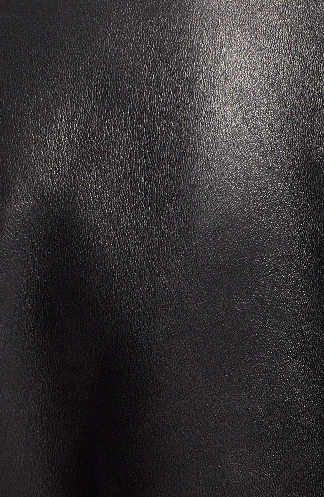 GREY Jason Wu Lambskin Leather Jacket,                             Alternate thumbnail 6, color,                             015