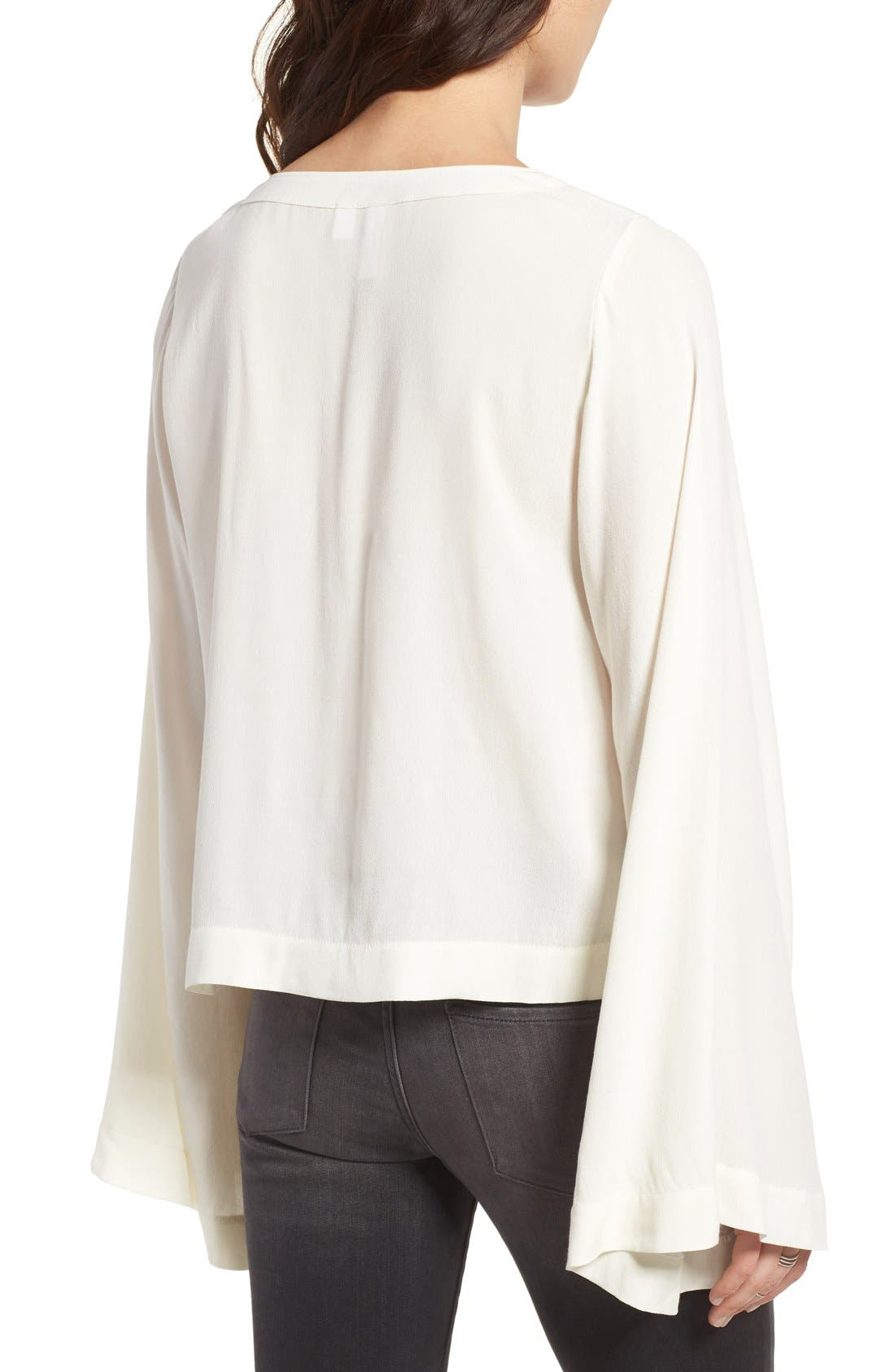 Bell Sleeve Blouse,                             Alternate thumbnail 8, color,