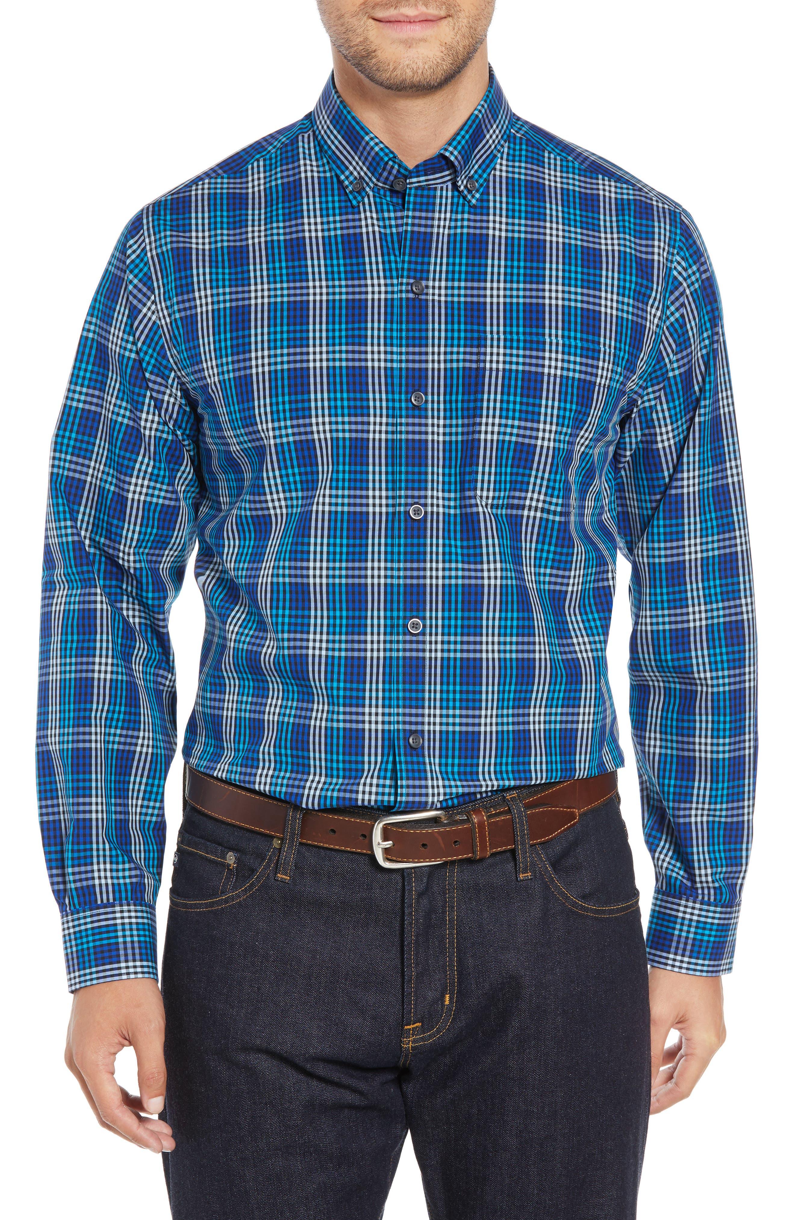 Regular Fit Non-Iron Sport Shirt,                         Main,                         color, ORBIT