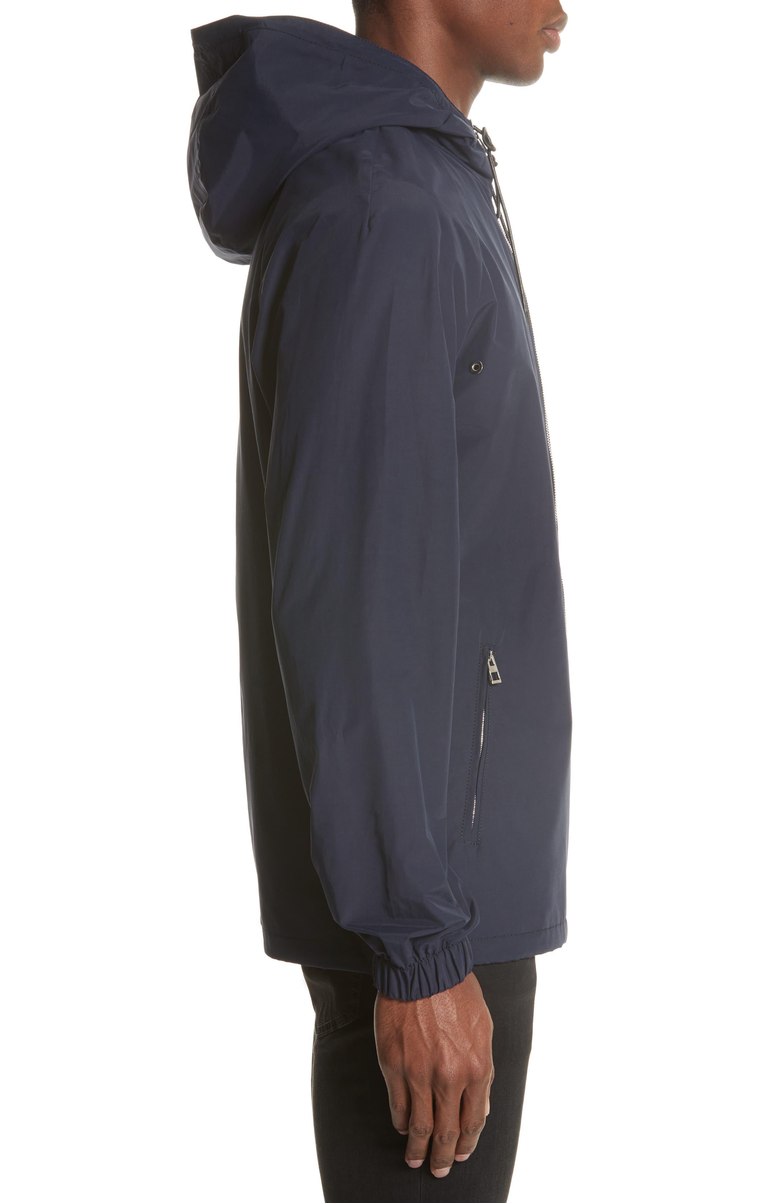 Zip Hooded Jacket,                             Alternate thumbnail 3, color,                             NAVY BLUE