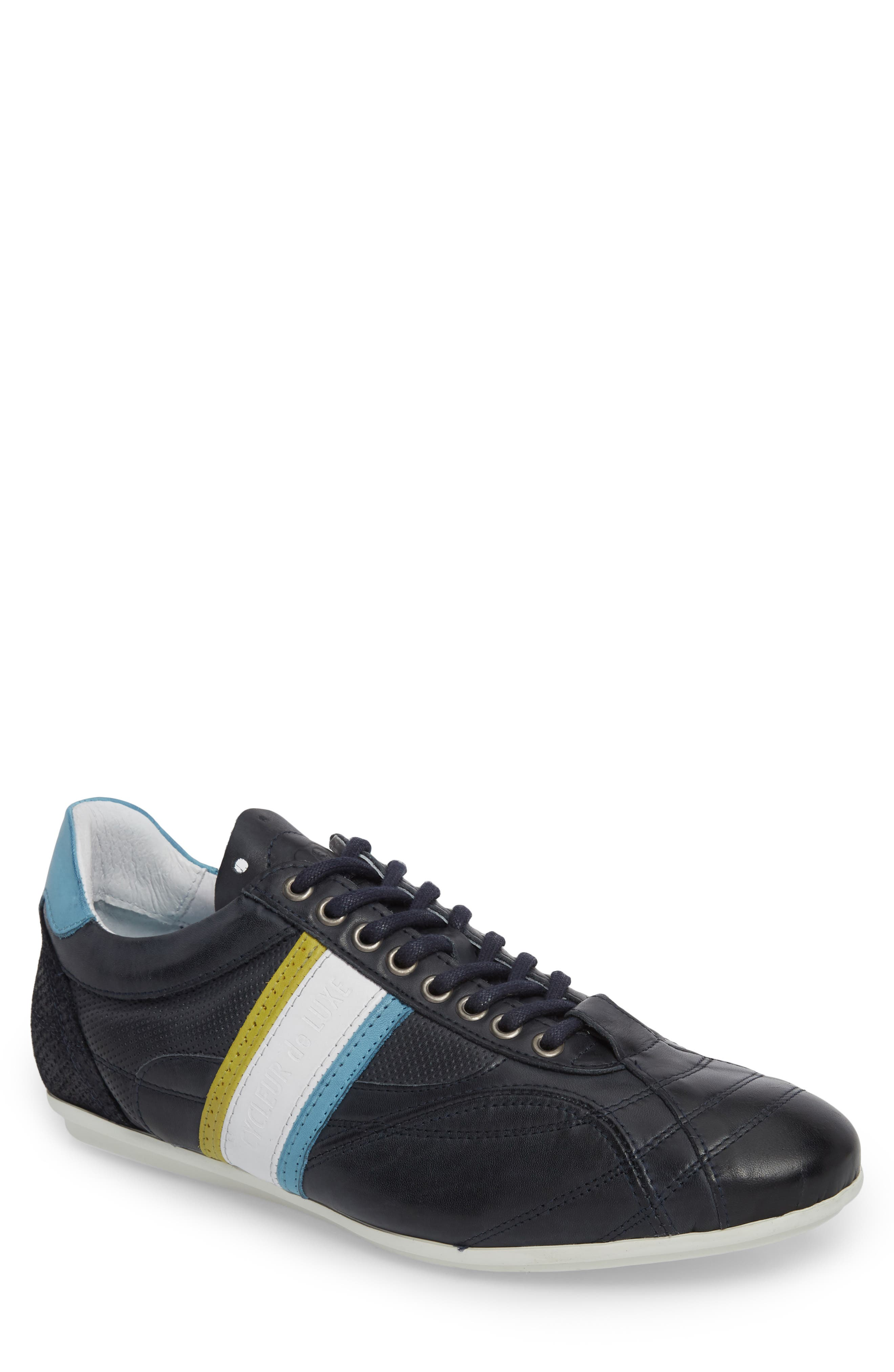 Crush City Low Top Sneaker,                             Main thumbnail 1, color,                             NAVY LEATHER