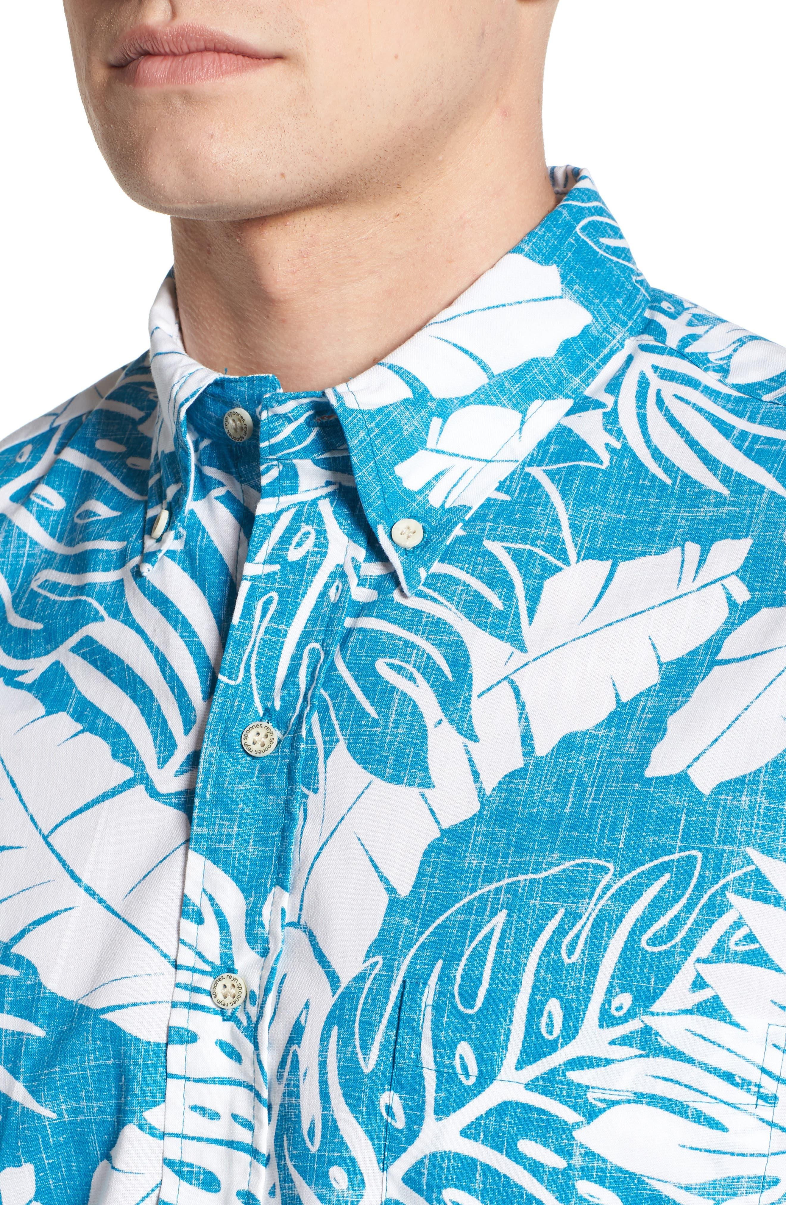 Avenue Falls Classic Fit Sport Shirt,                             Alternate thumbnail 4, color,                             BLUE