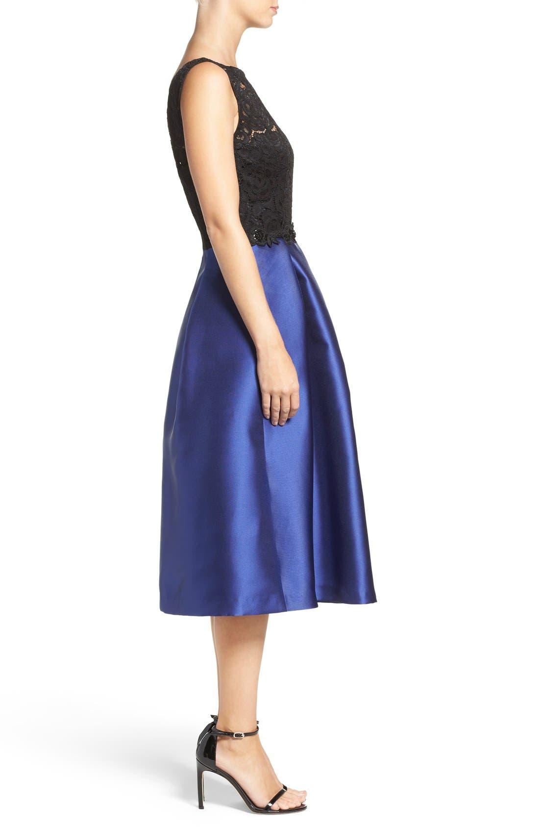 Lace Bodice Midi Dress,                             Alternate thumbnail 2, color,                             414