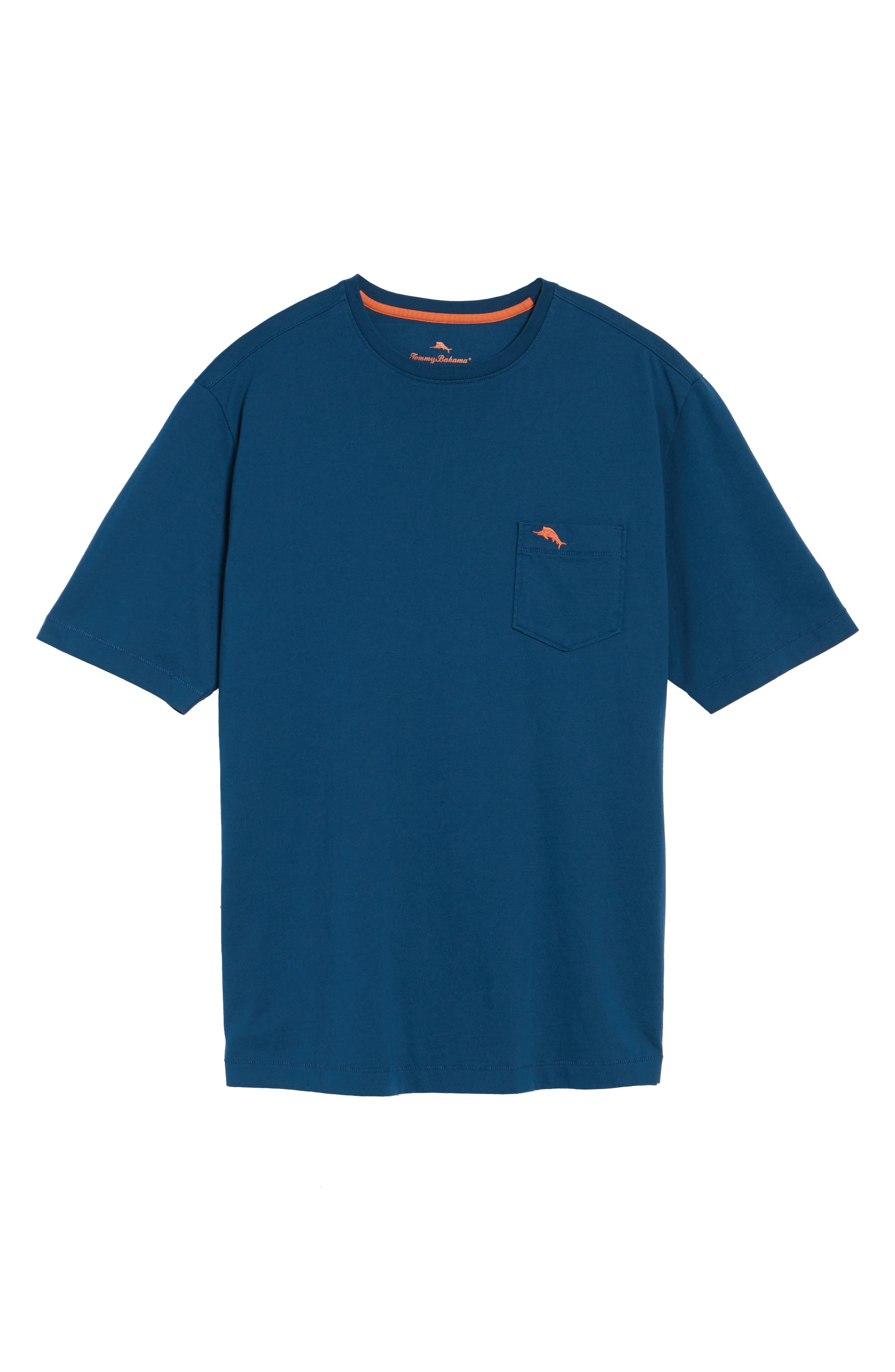 New Bali Sky Pima Cotton Pocket T-Shirt,                             Alternate thumbnail 130, color,
