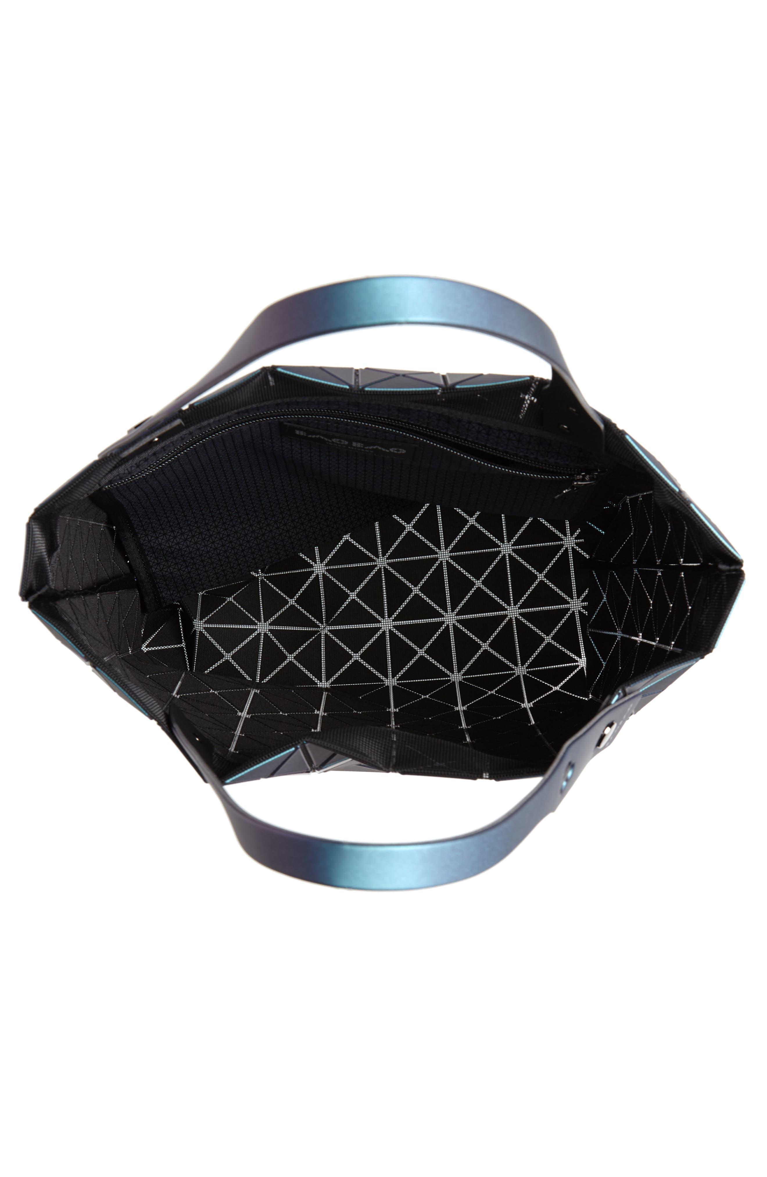 Prism Metallic Tote Bag,                             Alternate thumbnail 4, color,                             BLUE