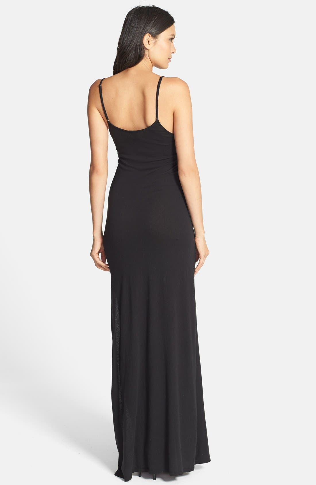 'Jet Set - Compass' Maxi Dress,                             Alternate thumbnail 3, color,                             001
