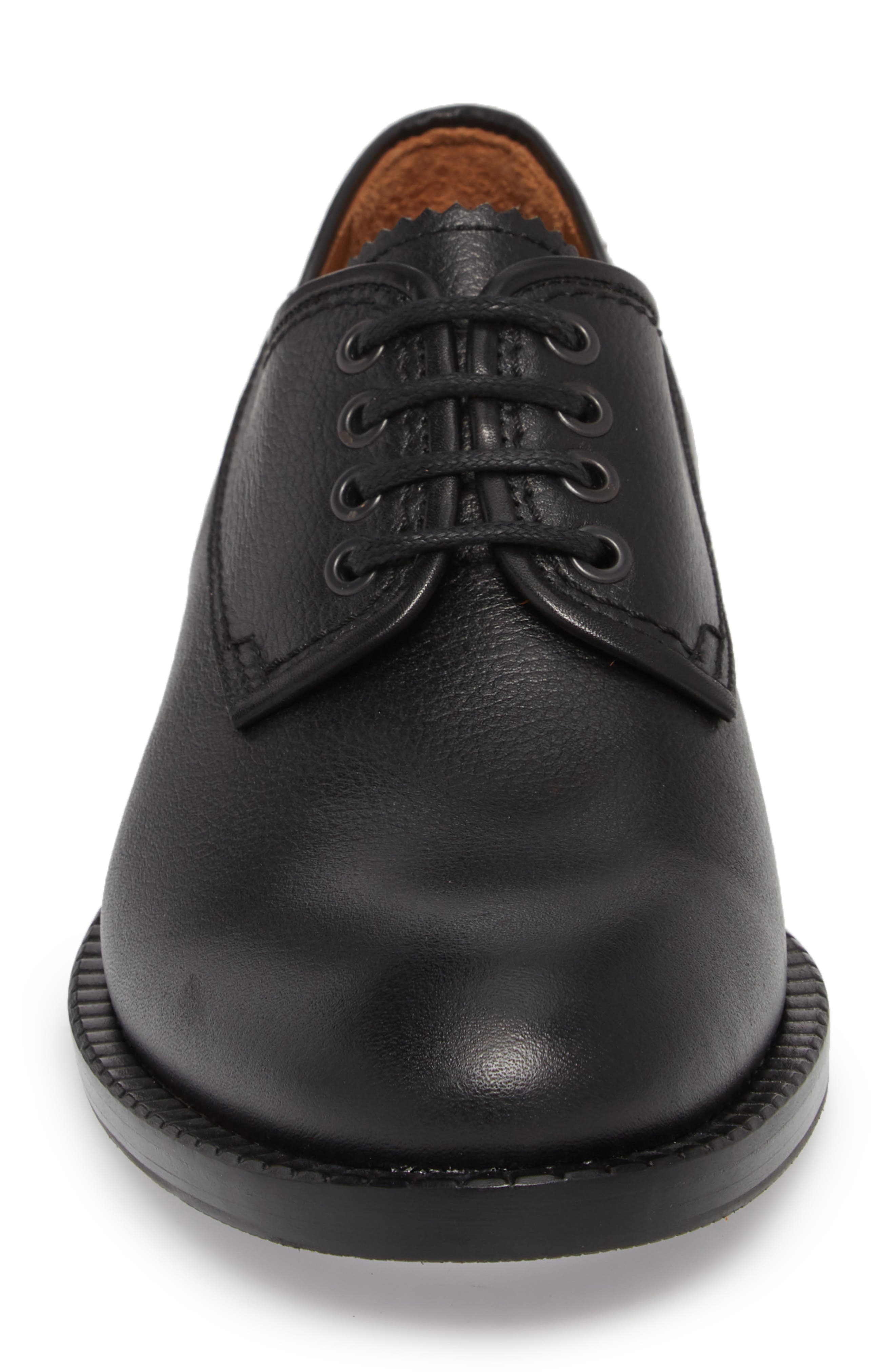 Jonah Weatherproof Plain Toe Derby,                             Alternate thumbnail 4, color,                             BLACK