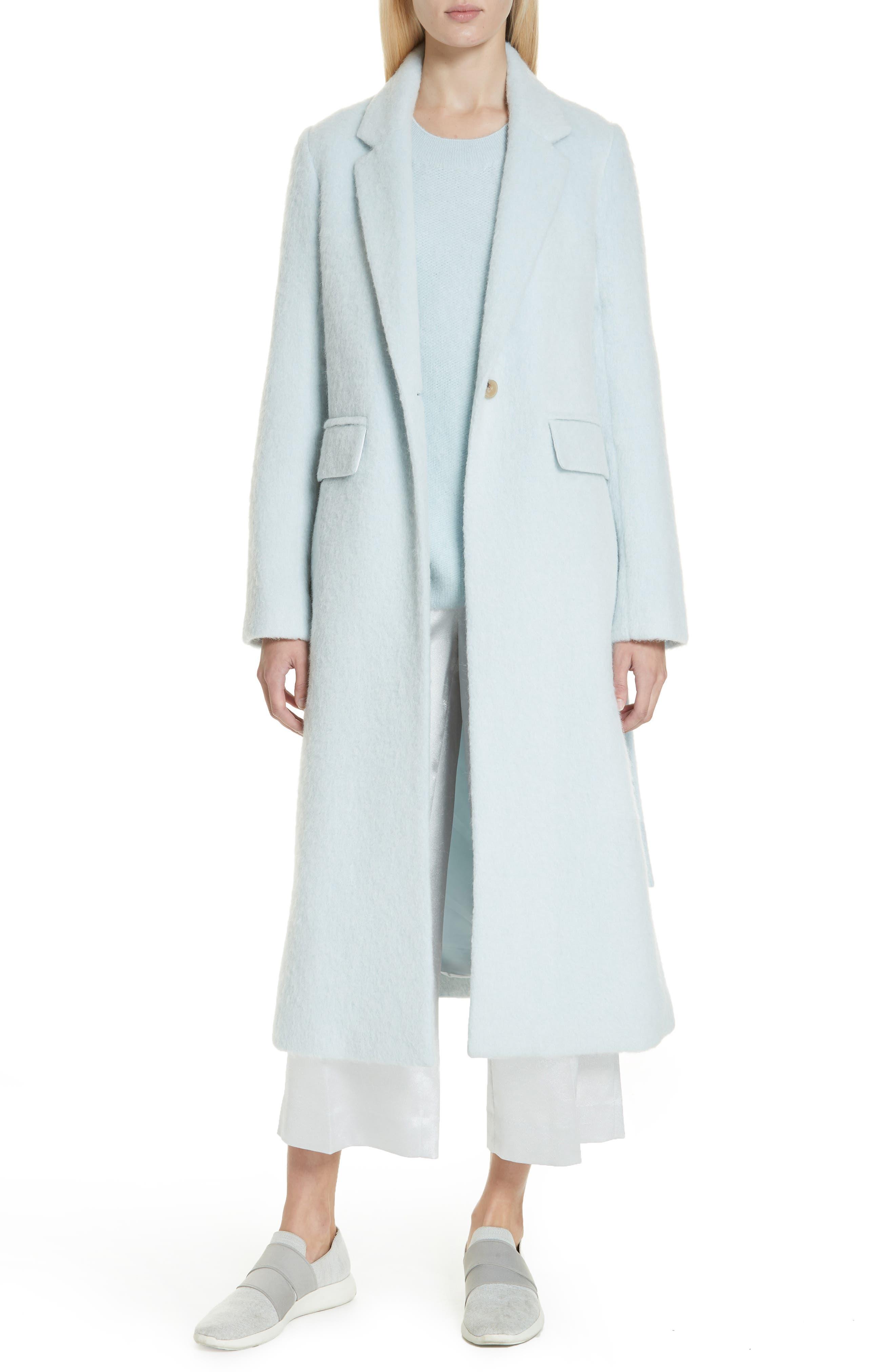 Long Faux Fur Coat,                         Main,                         color, CLOUD
