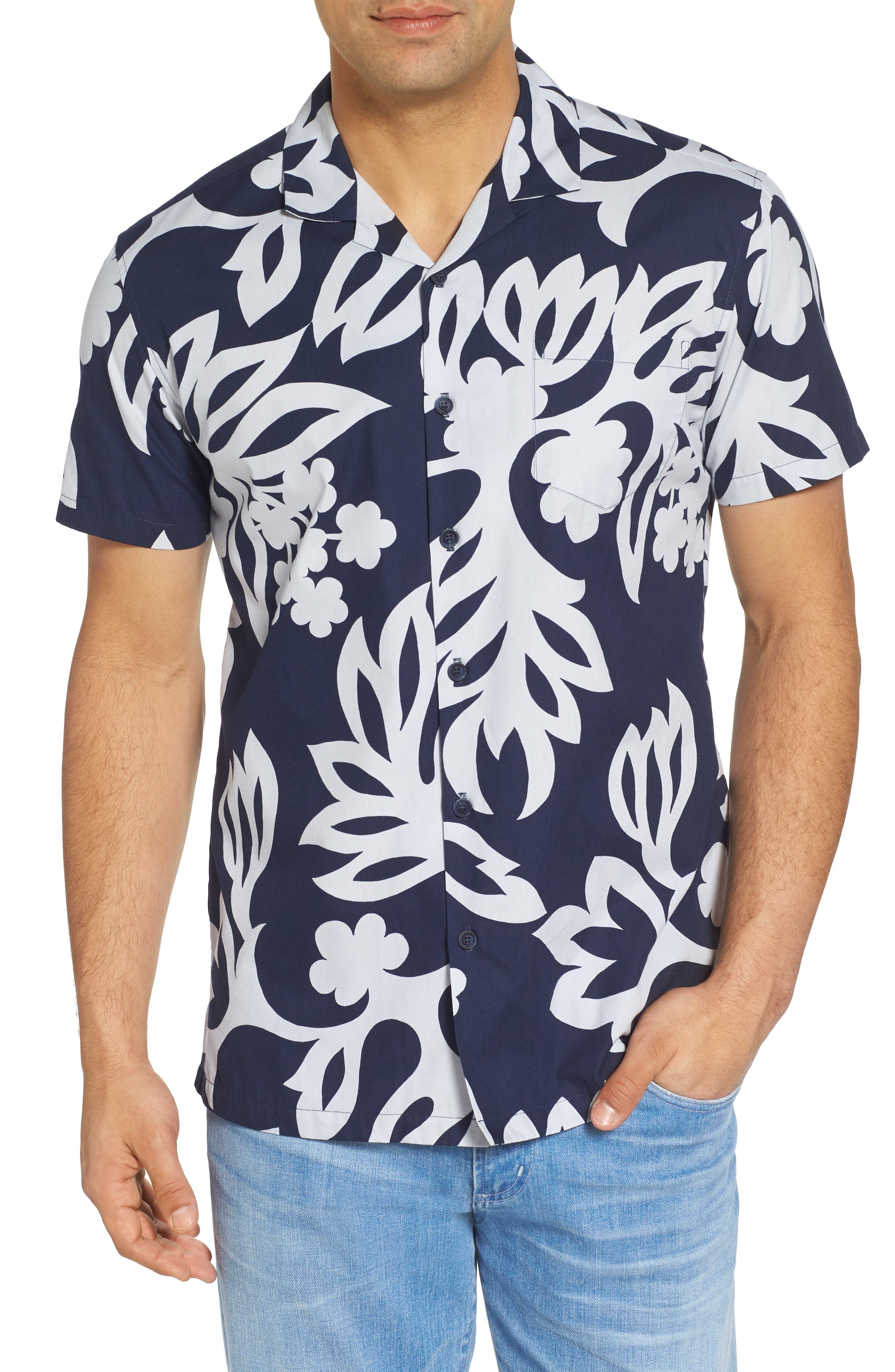 Simple Regular Fit Camp Shirt,                             Main thumbnail 2, color,