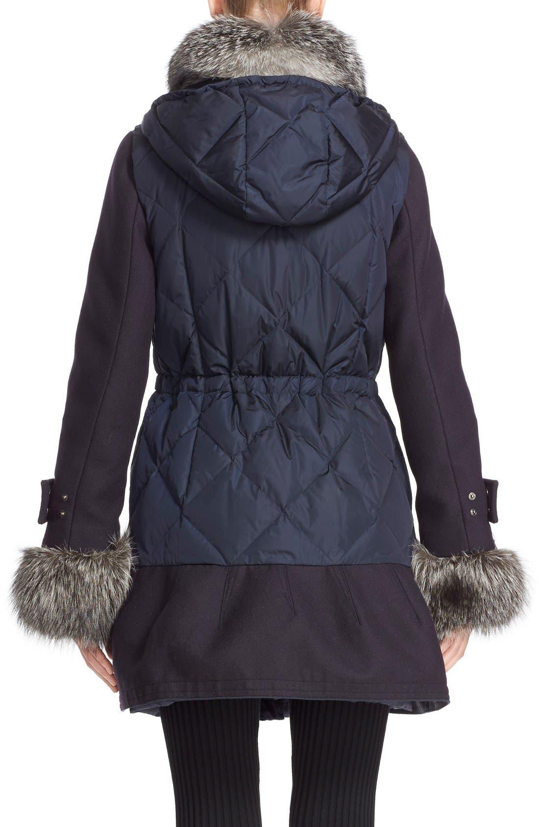 'Elestoria' Two-Piece Down Puffer Coat with Genuine Fox Fur Trim,                             Alternate thumbnail 9, color,                             419