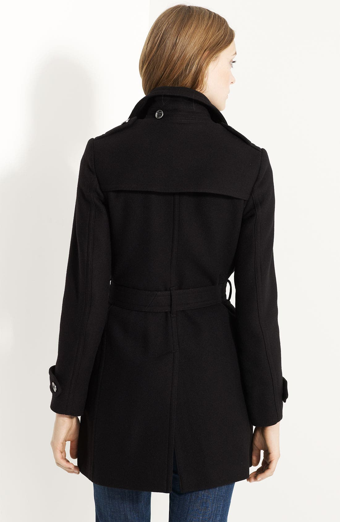 'Balmoral' Wool Blend Trench Coat,                             Alternate thumbnail 2, color,                             001