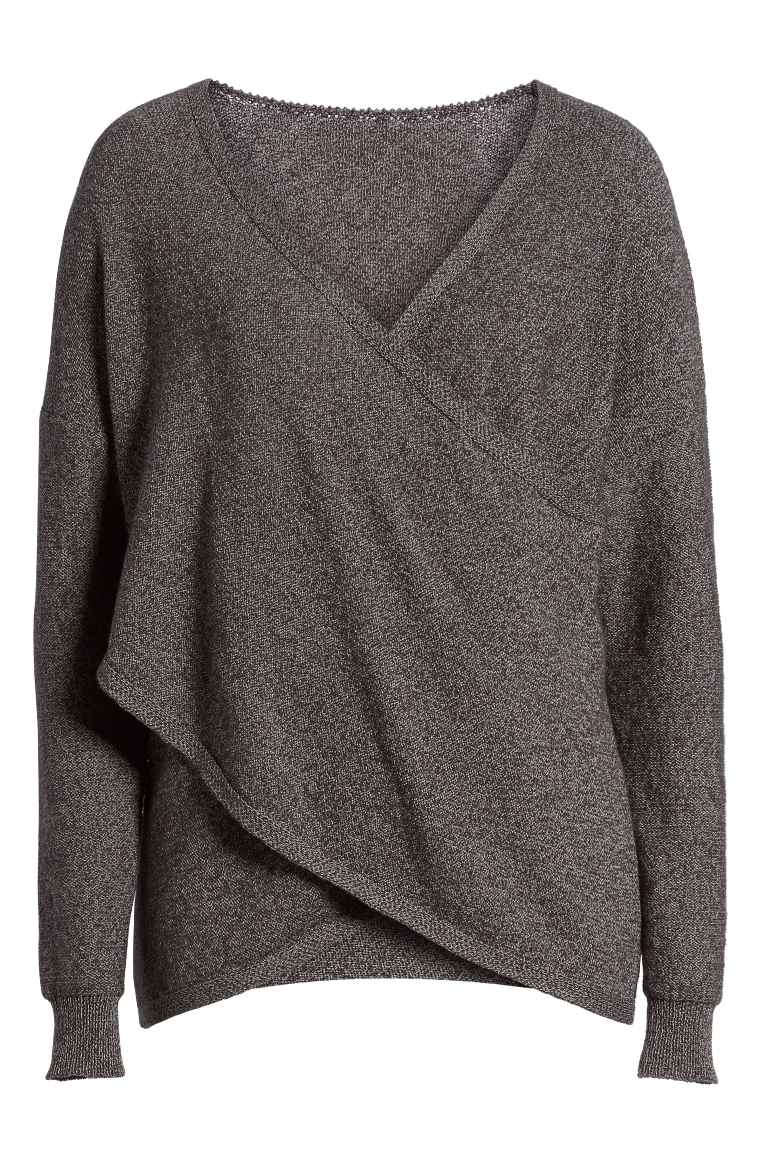 Lunar Surplice Sweater,                             Alternate thumbnail 6, color,                             020