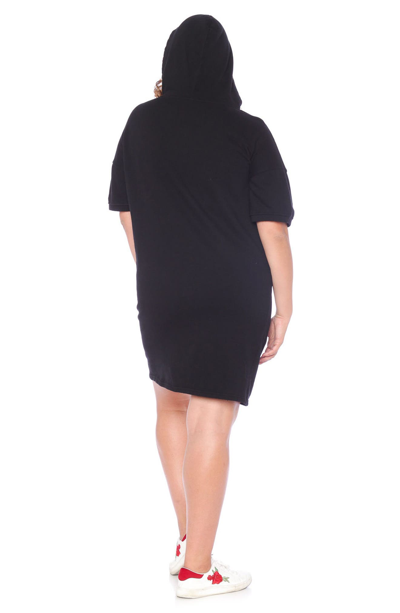 Lace-Up Hoodie Dress,                             Alternate thumbnail 5, color,                             018