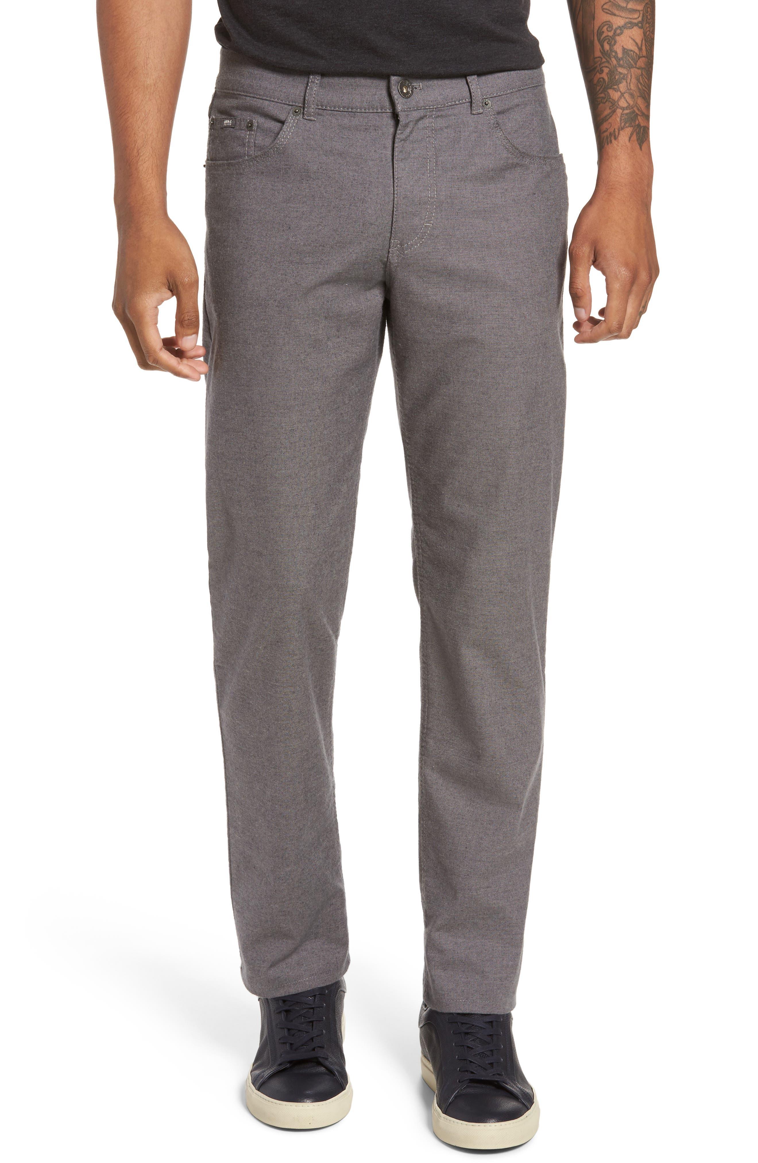 Five-Pocket Stretch Cotton Trousers,                             Main thumbnail 3, color,
