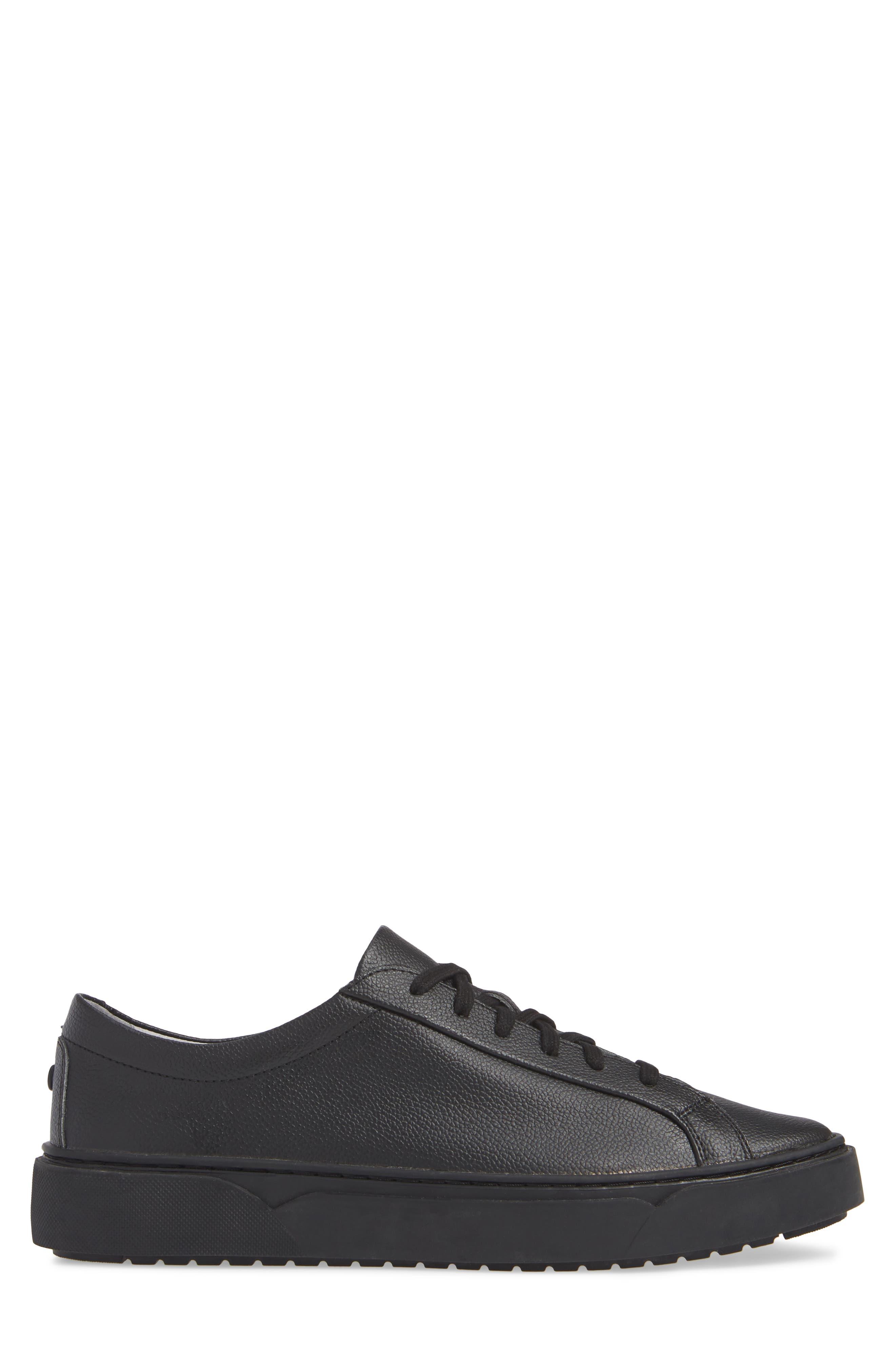 Ken Sneaker,                             Alternate thumbnail 3, color,                             TRIPLE BLACK LEATHER