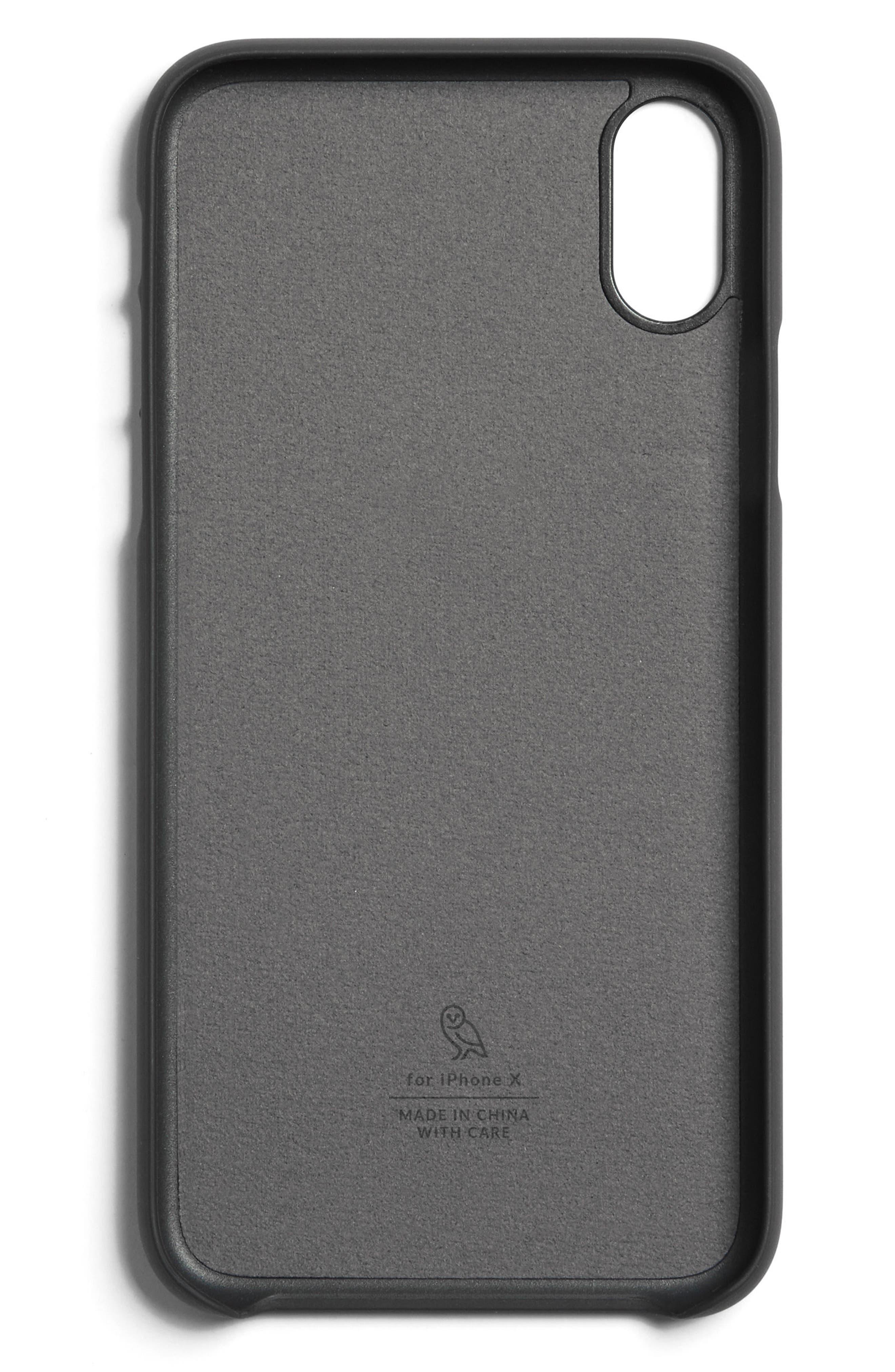Single Card iPhone X Case,                             Alternate thumbnail 6, color,