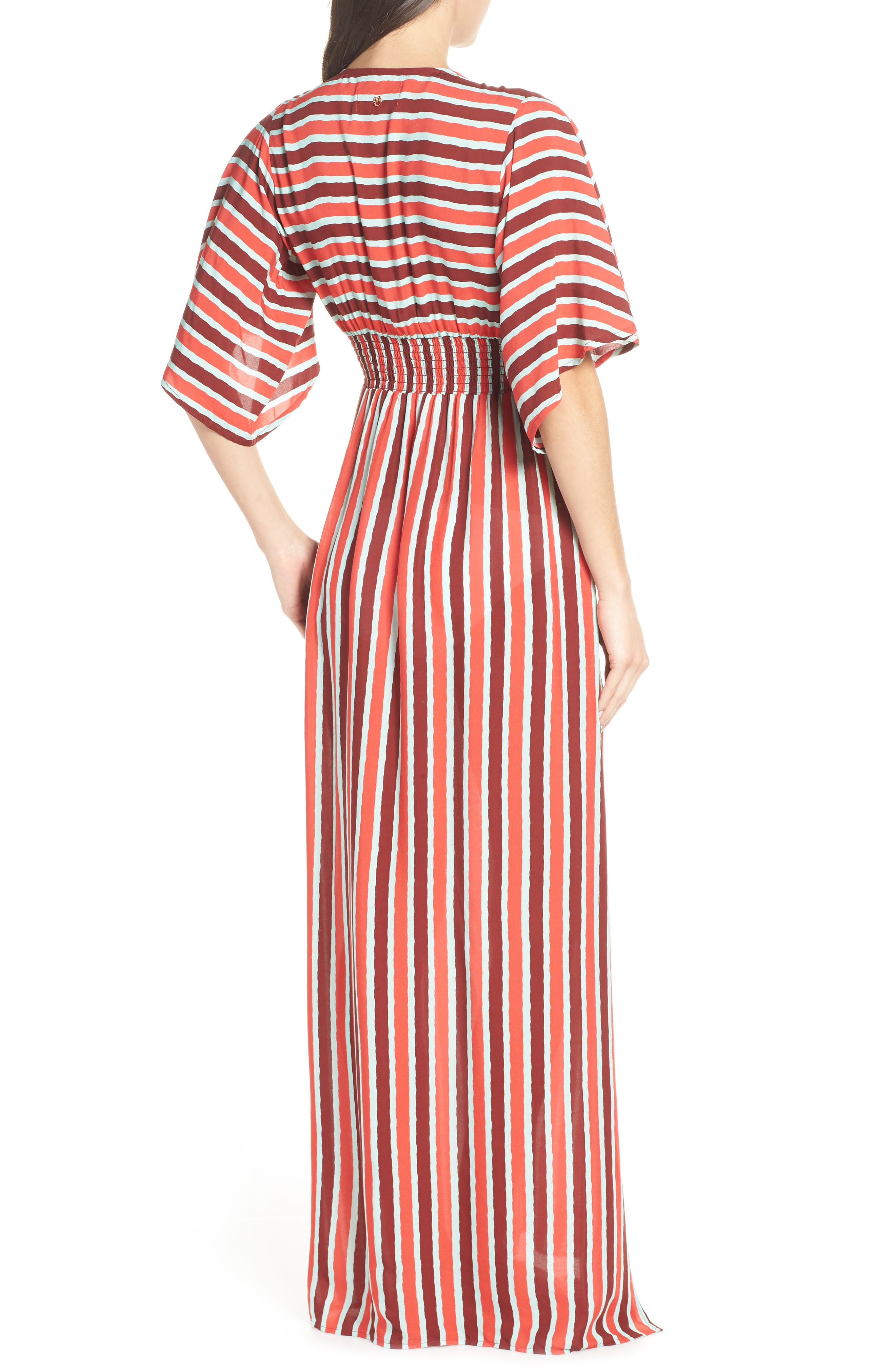 Morning Glam Cover-Up Maxi Dress,                             Alternate thumbnail 2, color,                             MULTI RED