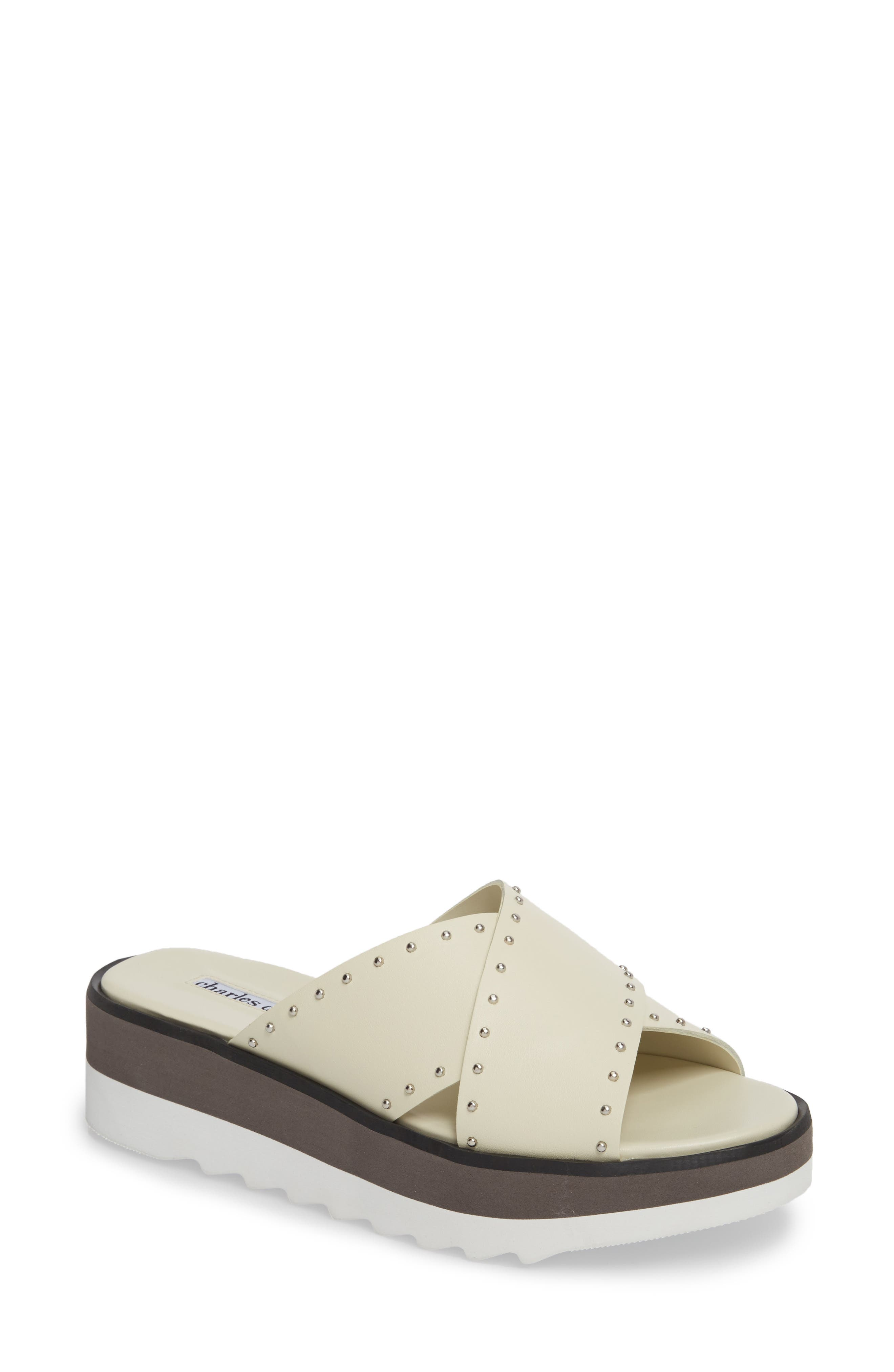 Buxom Sandal, Main, color, WHITE LEATHER