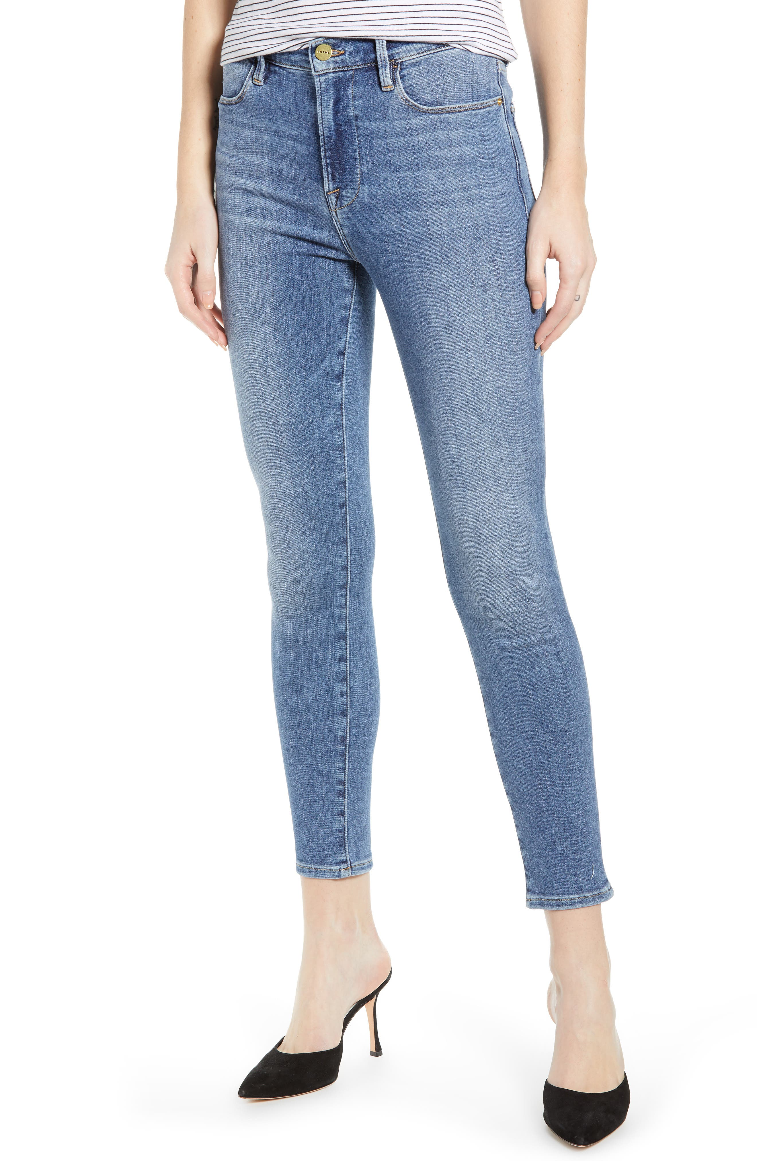Women's Frame Le High Waist Crop Skinny Jeans