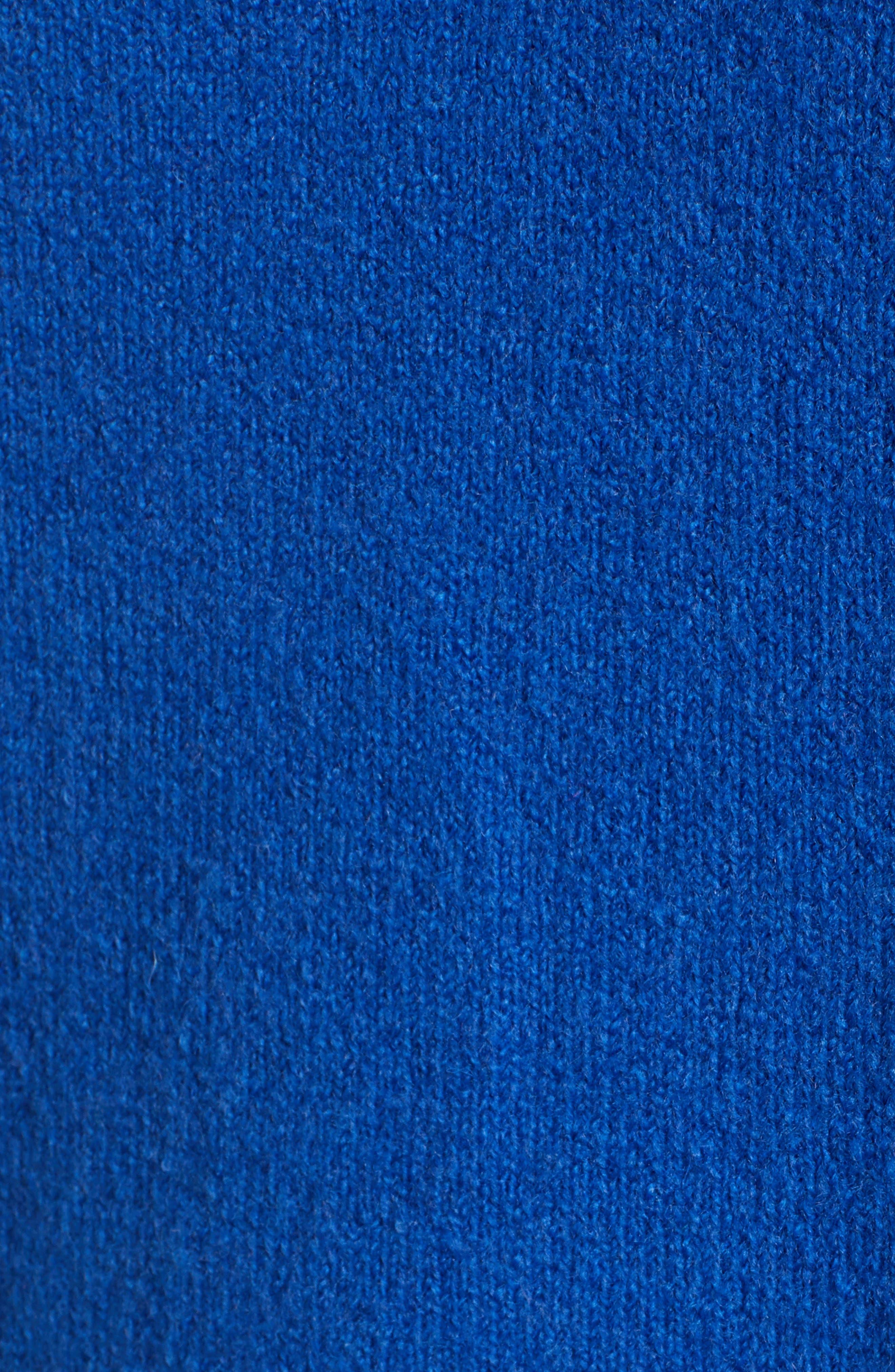 Turtleneck Wool Blend Tunic Sweater,                             Alternate thumbnail 5, color,                             BLUE MAZARINE