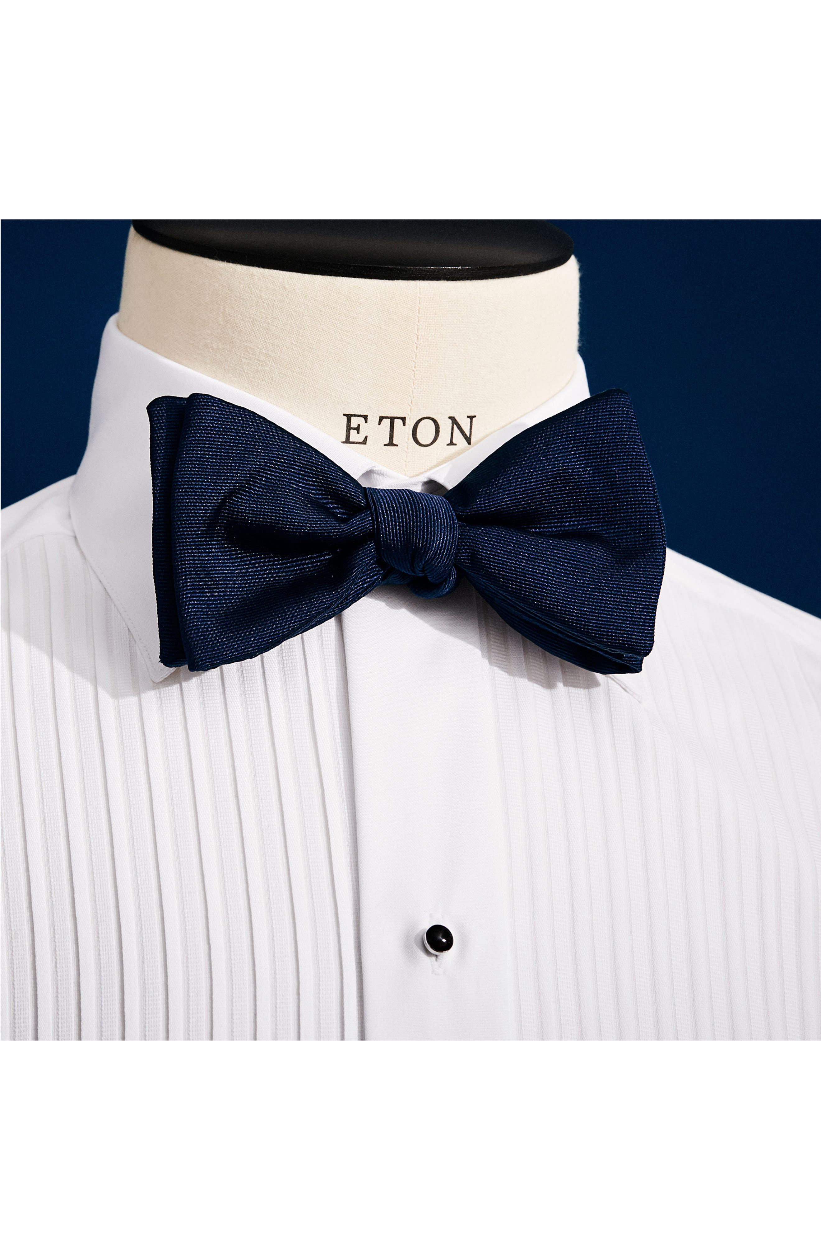 Silk Bow Tie,                             Alternate thumbnail 2, color,                             NAVY
