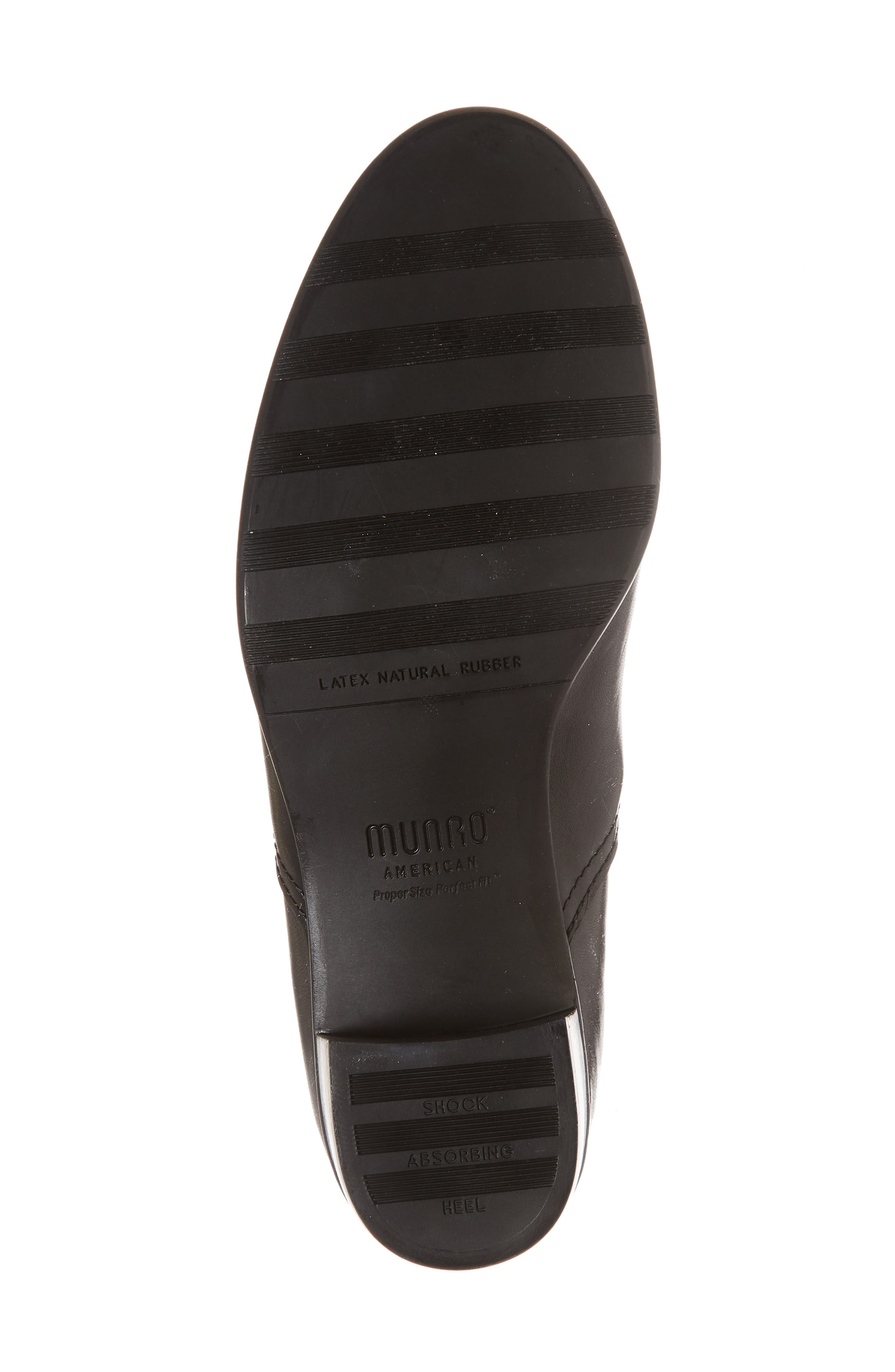 Ana Bootie,                             Alternate thumbnail 6, color,                             BLACK LEATHER