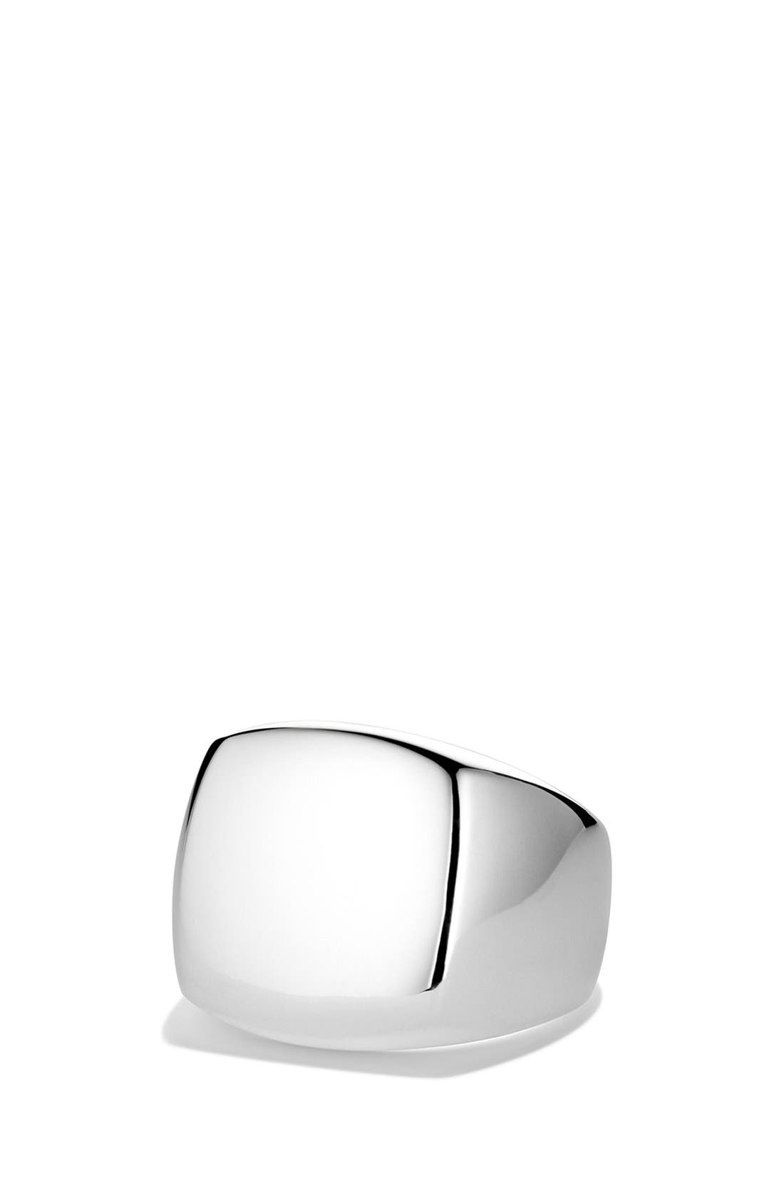'Chevron' Signet Ring,                             Main thumbnail 3, color,