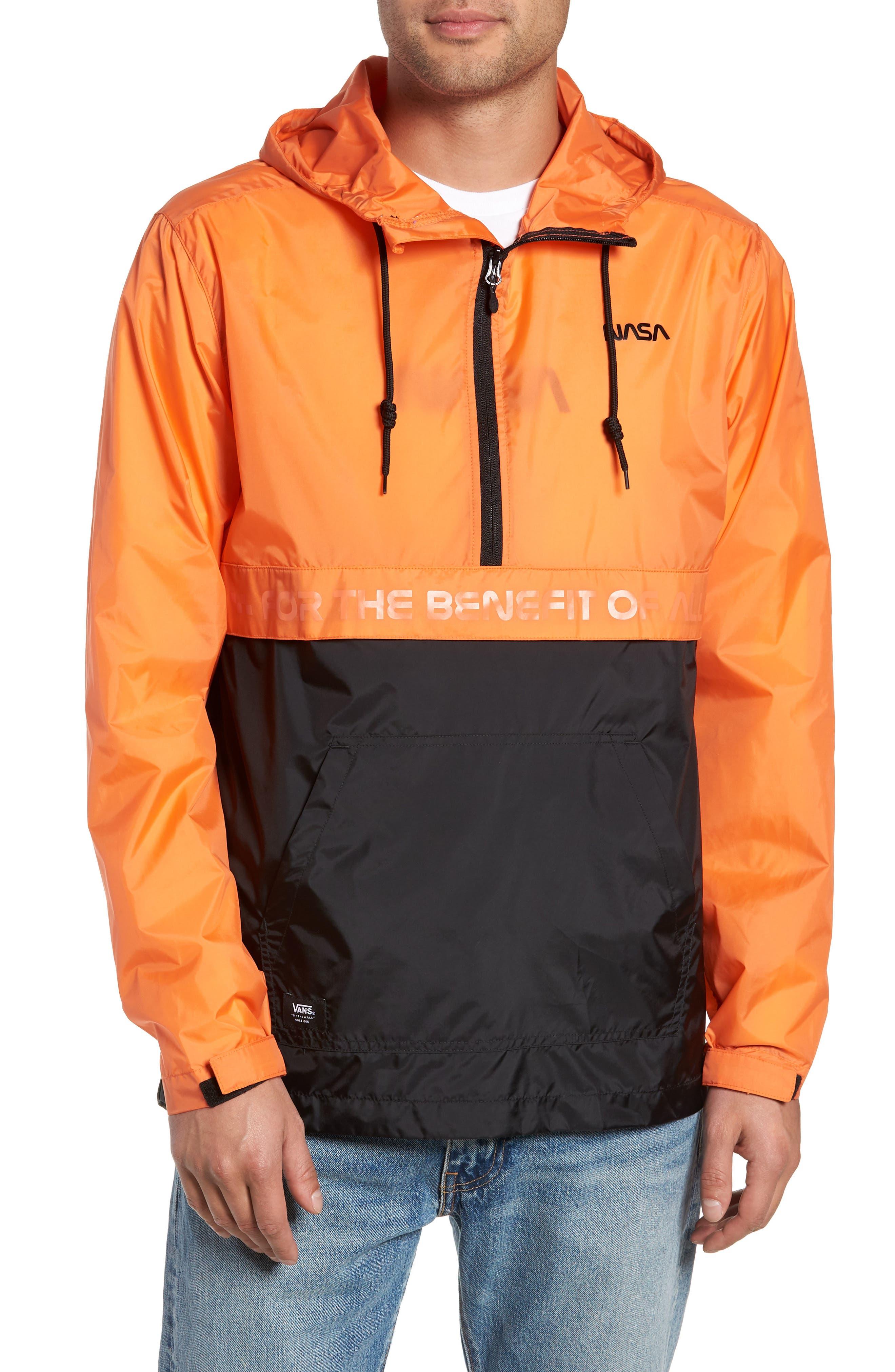 Vans Nasa Packable Water Resistant Anorak Jacket Nordstrom